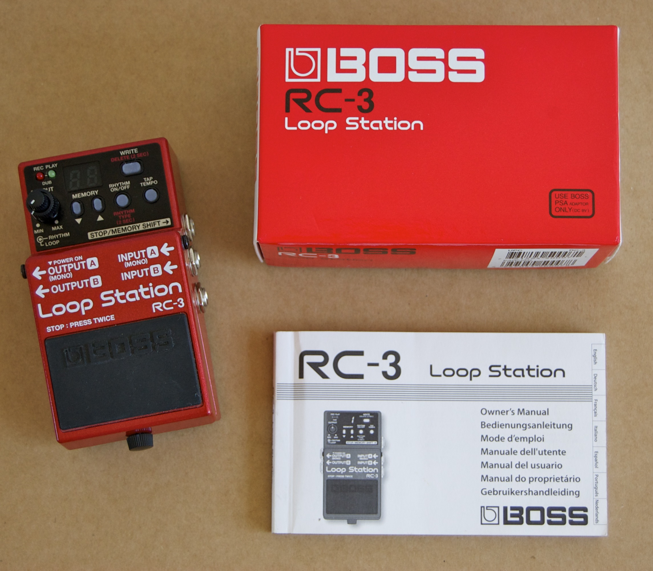 boss rc 3 loop station image 595783 audiofanzine. Black Bedroom Furniture Sets. Home Design Ideas