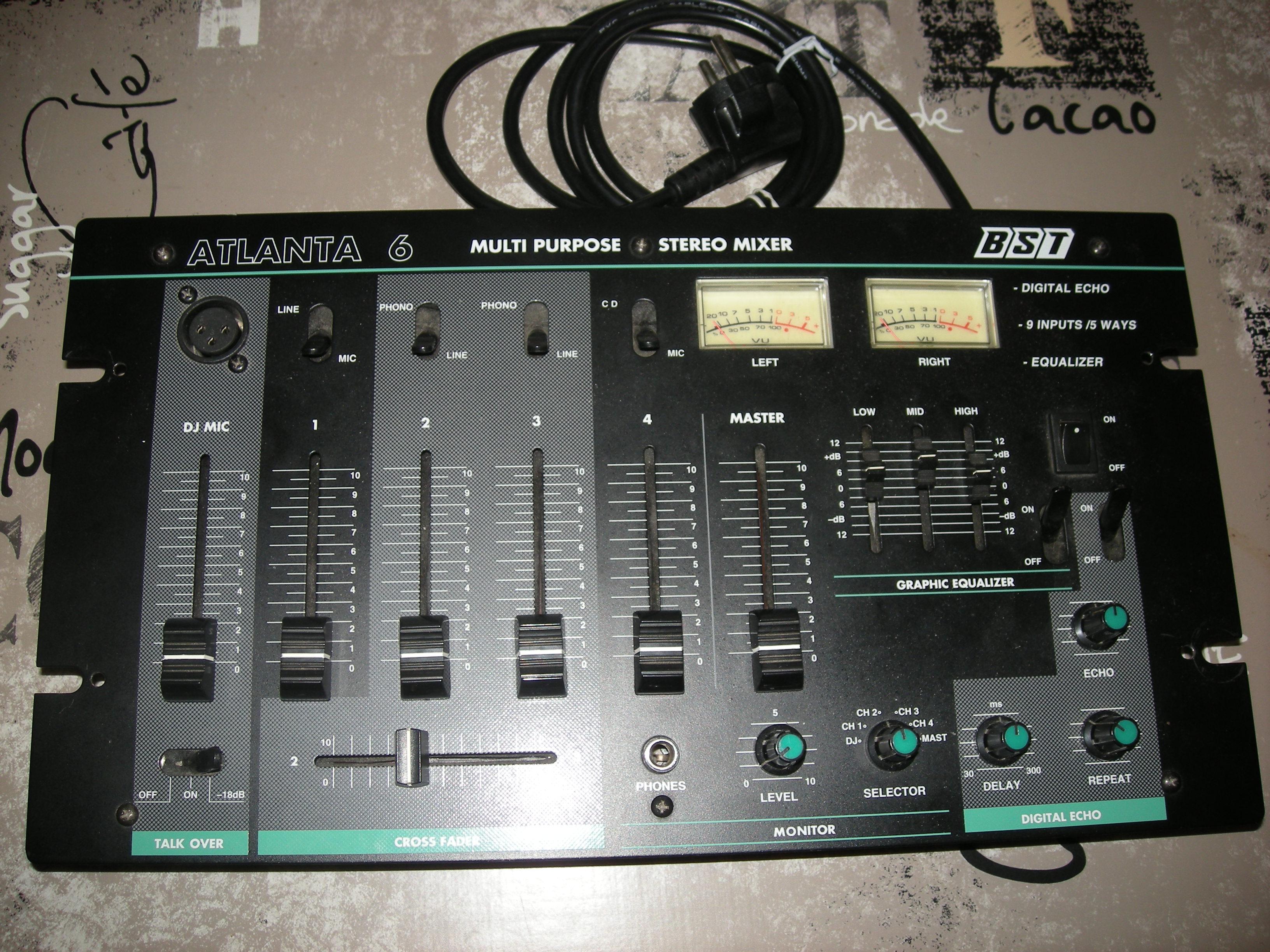 table de mixage atlanta 6