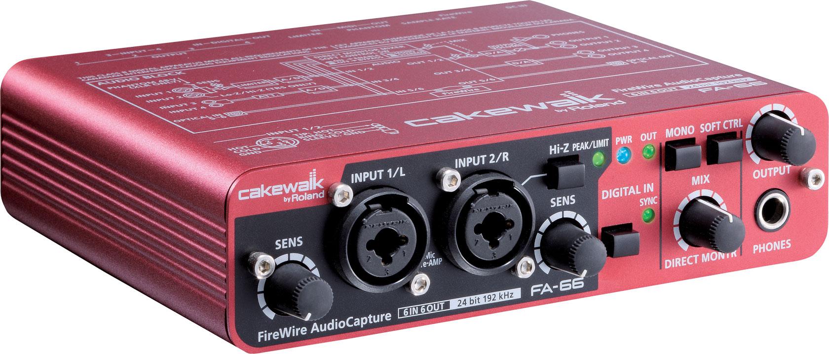 Fa 66 firewire audio interface cakewalk audiofanzine for Lorie par la fenetre je regarde seul