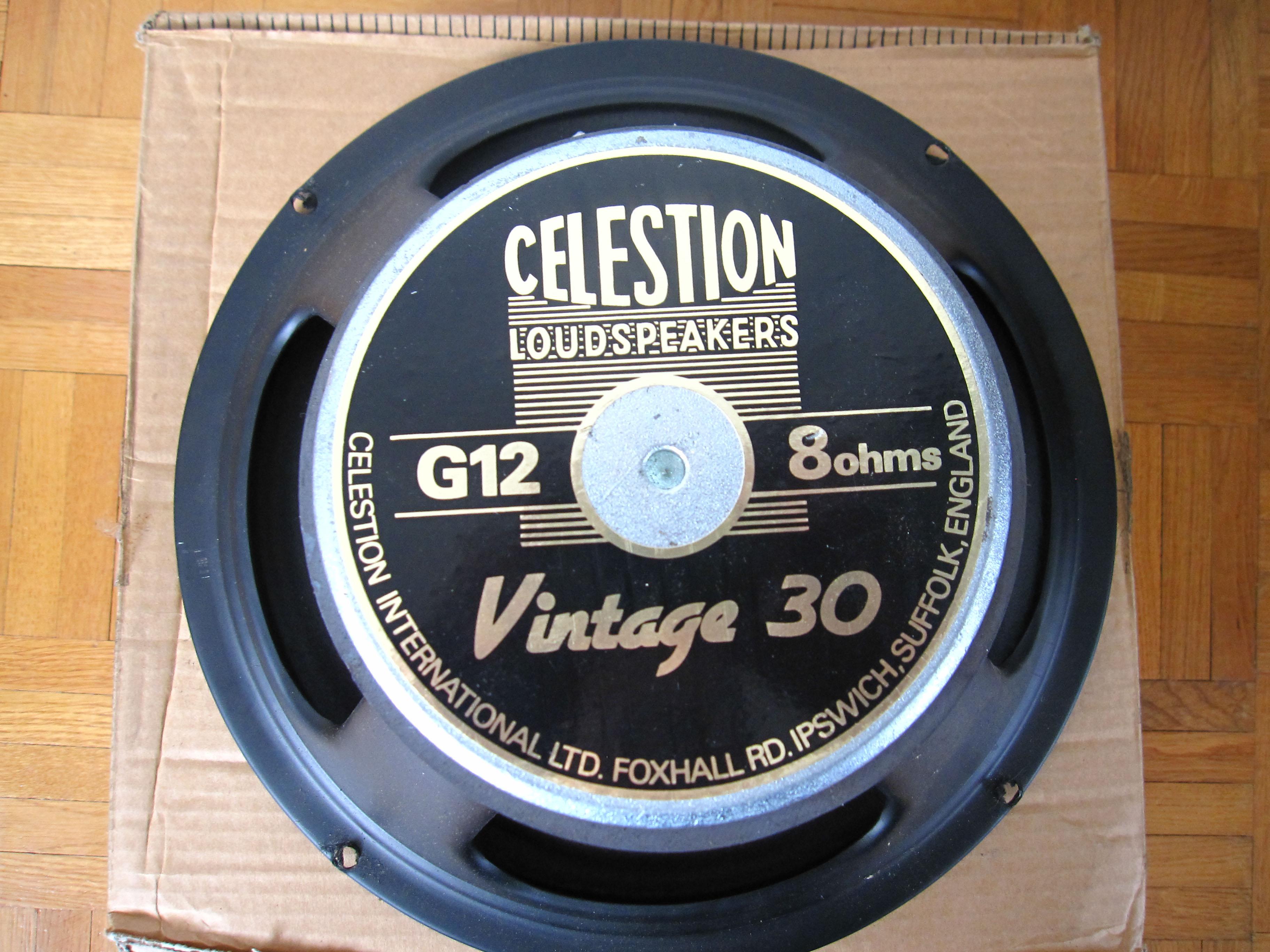 celestion vintage 30 8 ohms image 419797 audiofanzine. Black Bedroom Furniture Sets. Home Design Ideas