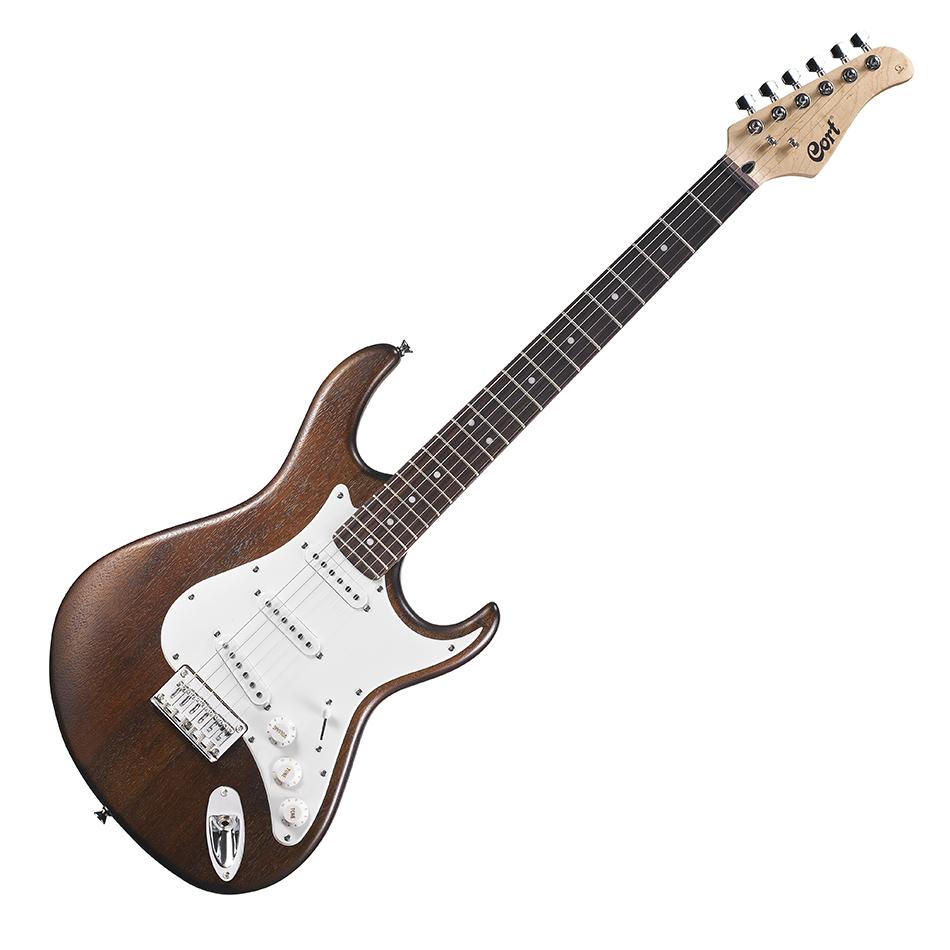 cort g100 guitare electrique pores ouverts bordeaux