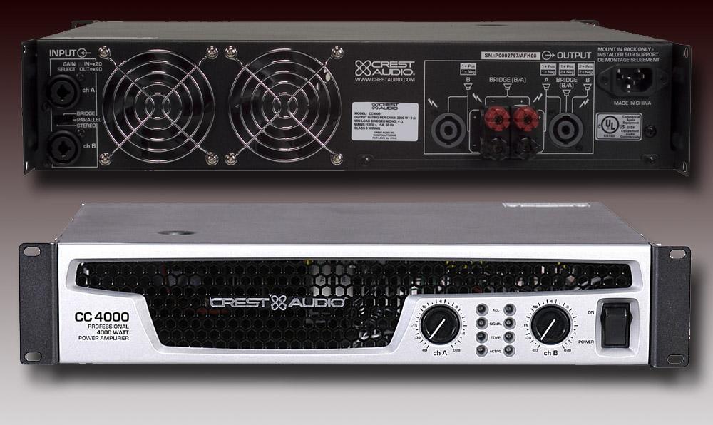 crest audio cc 4000 image 2061206 audiofanzine rh en audiofanzine com CC Amplifier Crest Power Amplifiers