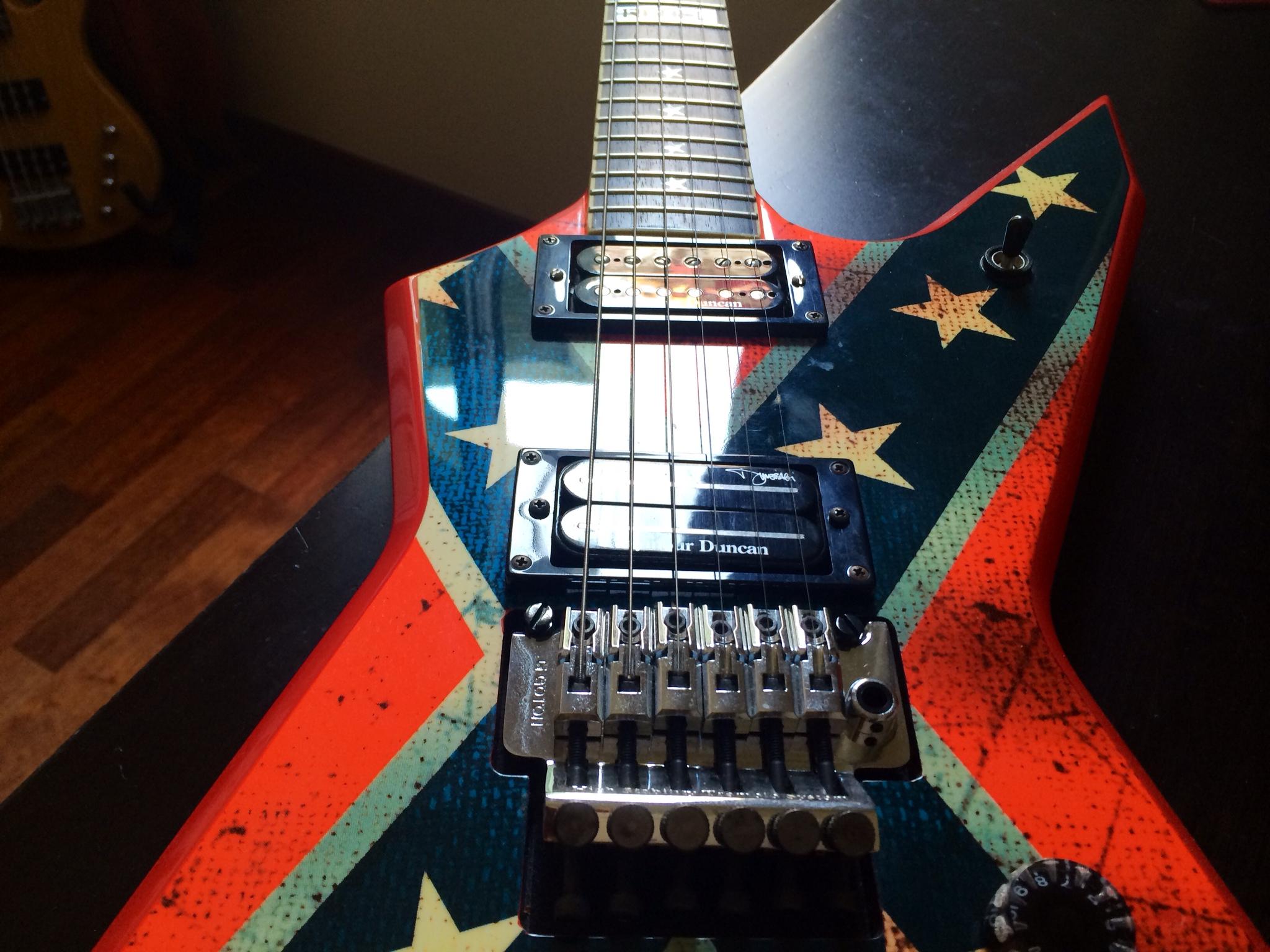 dean guitars dimebag dixie rebel image 925461 audiofanzine. Black Bedroom Furniture Sets. Home Design Ideas