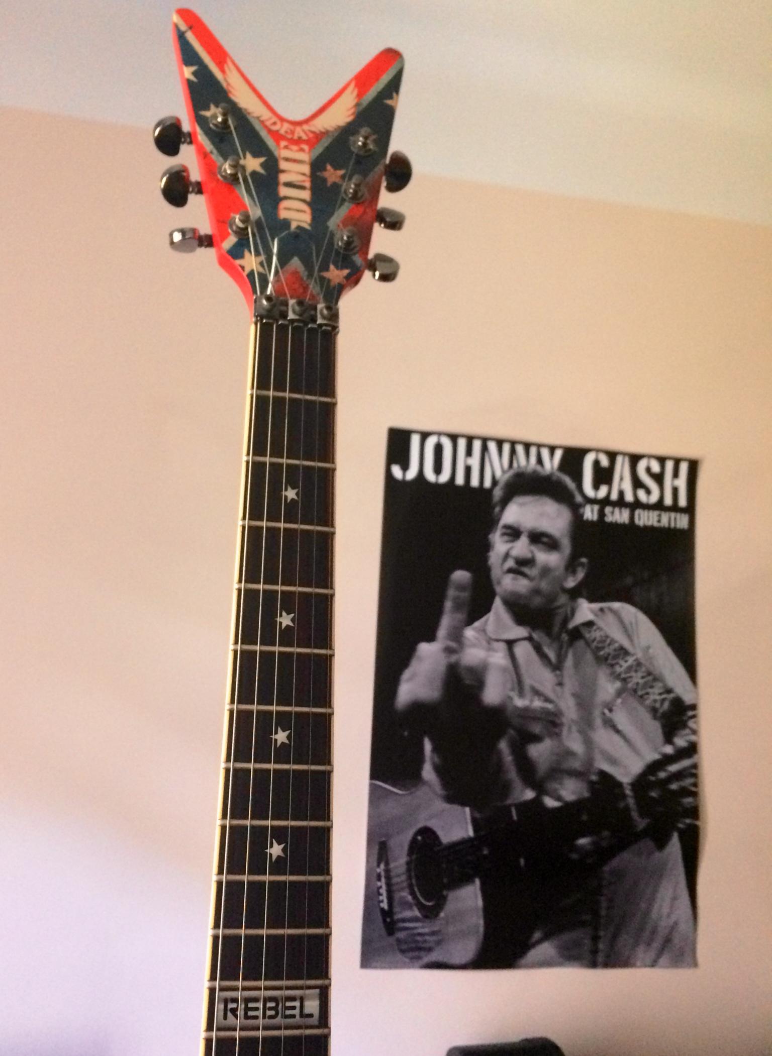 dean guitars dimebag dixie rebel image 925462 audiofanzine. Black Bedroom Furniture Sets. Home Design Ideas
