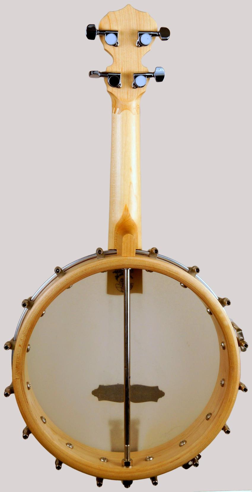 Deering Goodtime Concert Banjolele with an 11 inch drum