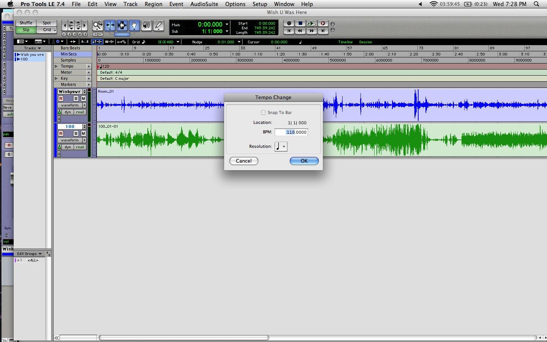 Tutorial: Using Elastic Audio in Pro Tools - Audiofanzine