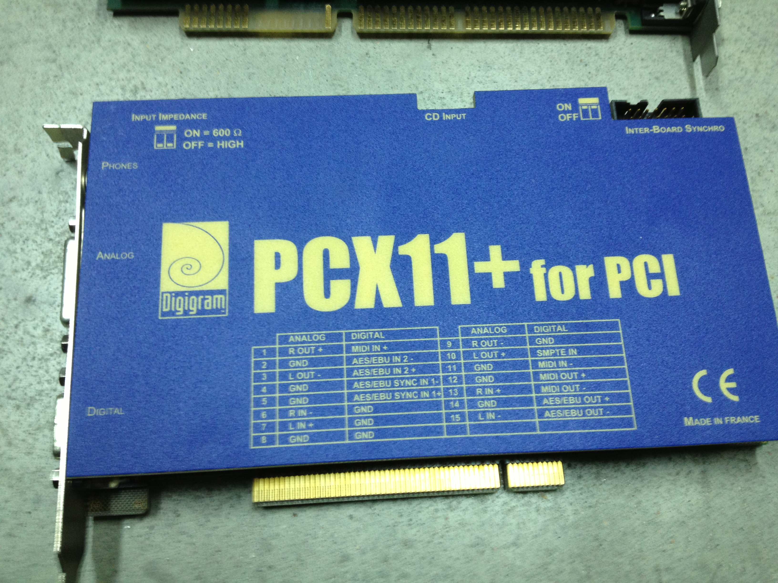 NEW DRIVERS: DIGIGRAM PCX 11