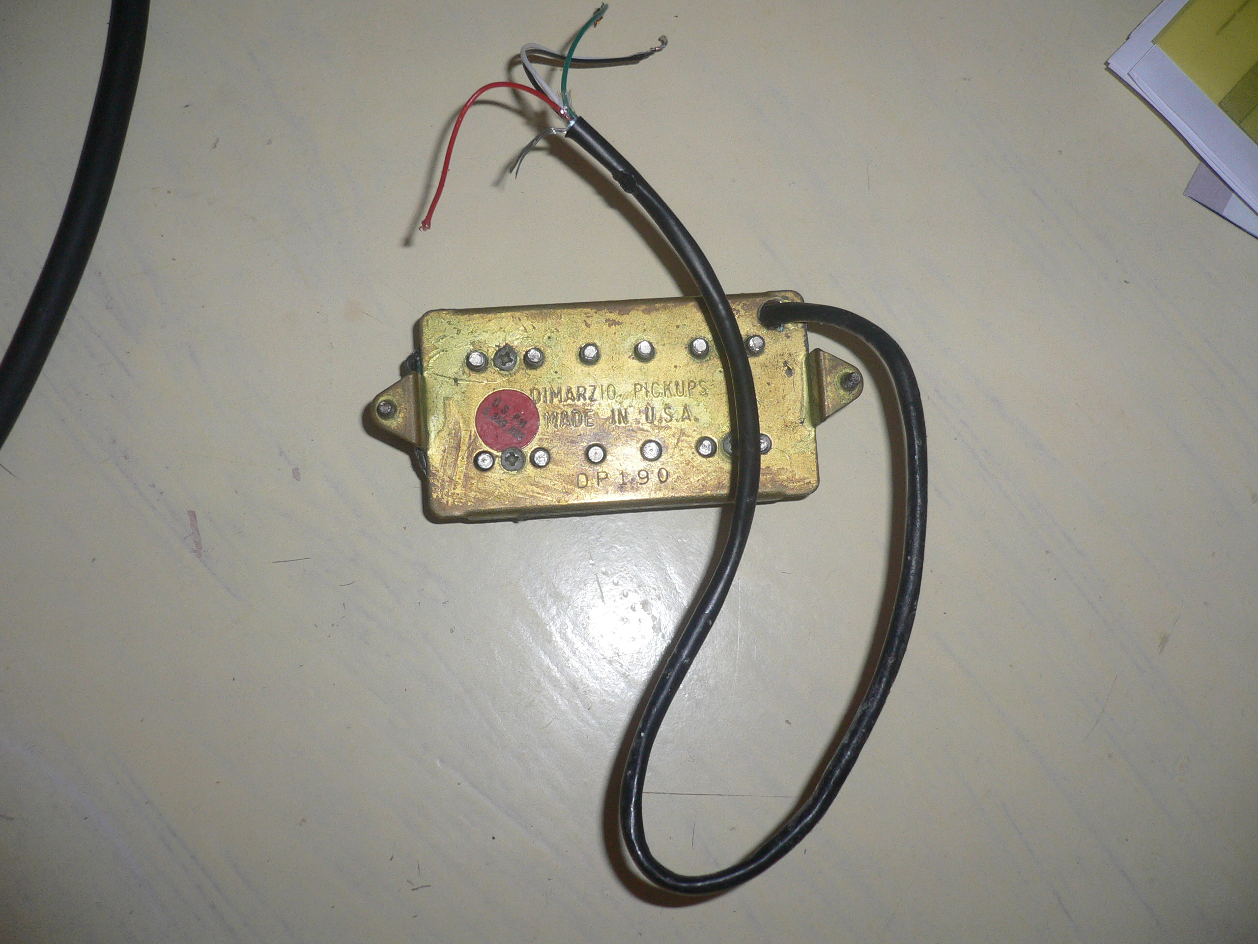 Pretty Two Humbuckers 5 Way Switch Tiny Hh 5 Way Switch Wiring Round Gretsch Wiring Harness Solar Panel Diagram Old Solar Panel Wiring Guide WhiteSolar Panel Diagrams DiMarzio DP190 Air Classic Neck Image (#663729)   Audiofanzine