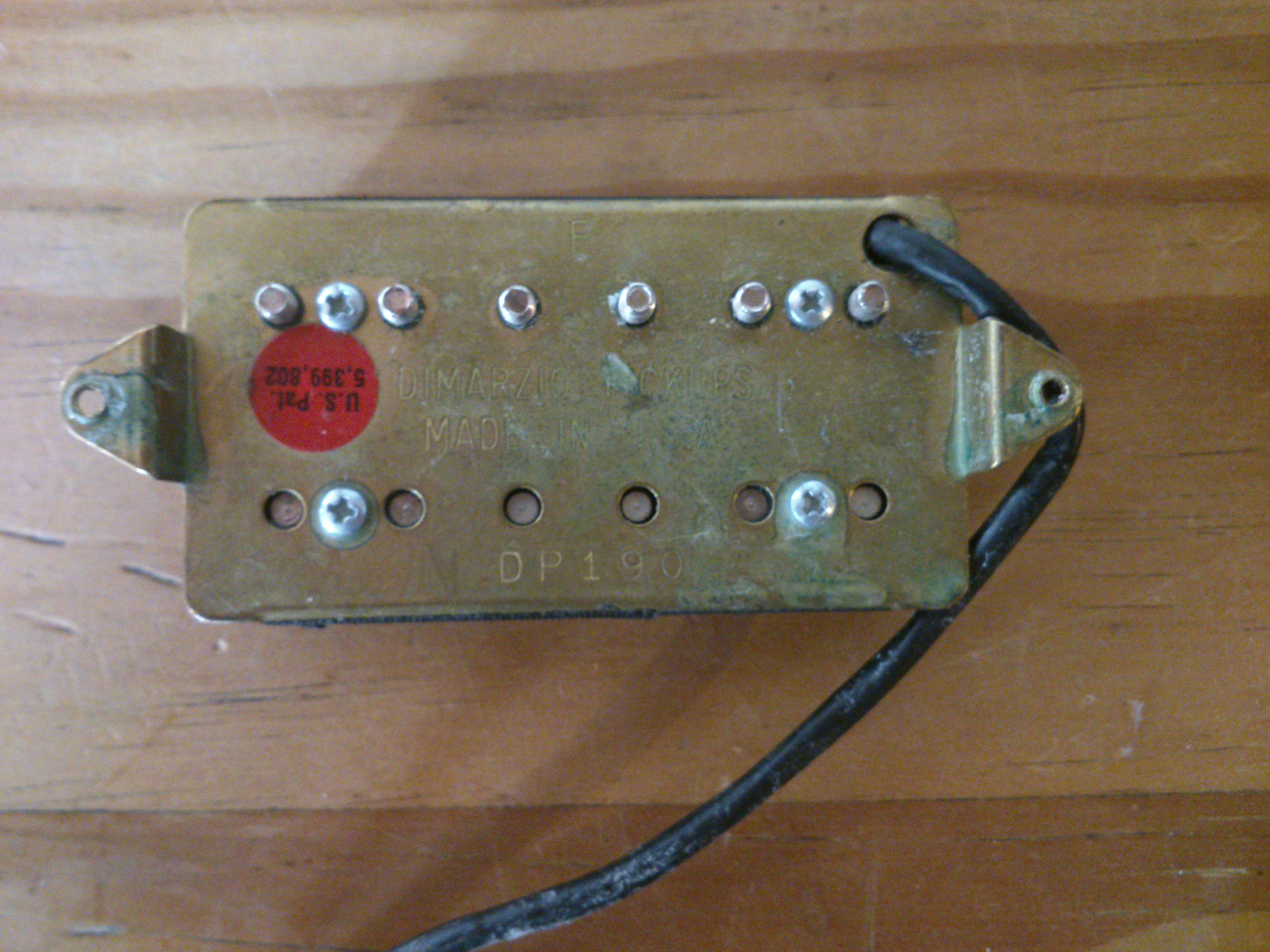 Unusual Two Humbuckers 5 Way Switch Big Hh 5 Way Switch Wiring Clean Gretsch Wiring Harness Solar Panel Diagram Young Solar Panel Wiring Guide FreshSolar Panel Diagrams DiMarzio DP190 Air Classic Neck Image (#733565)   Audiofanzine