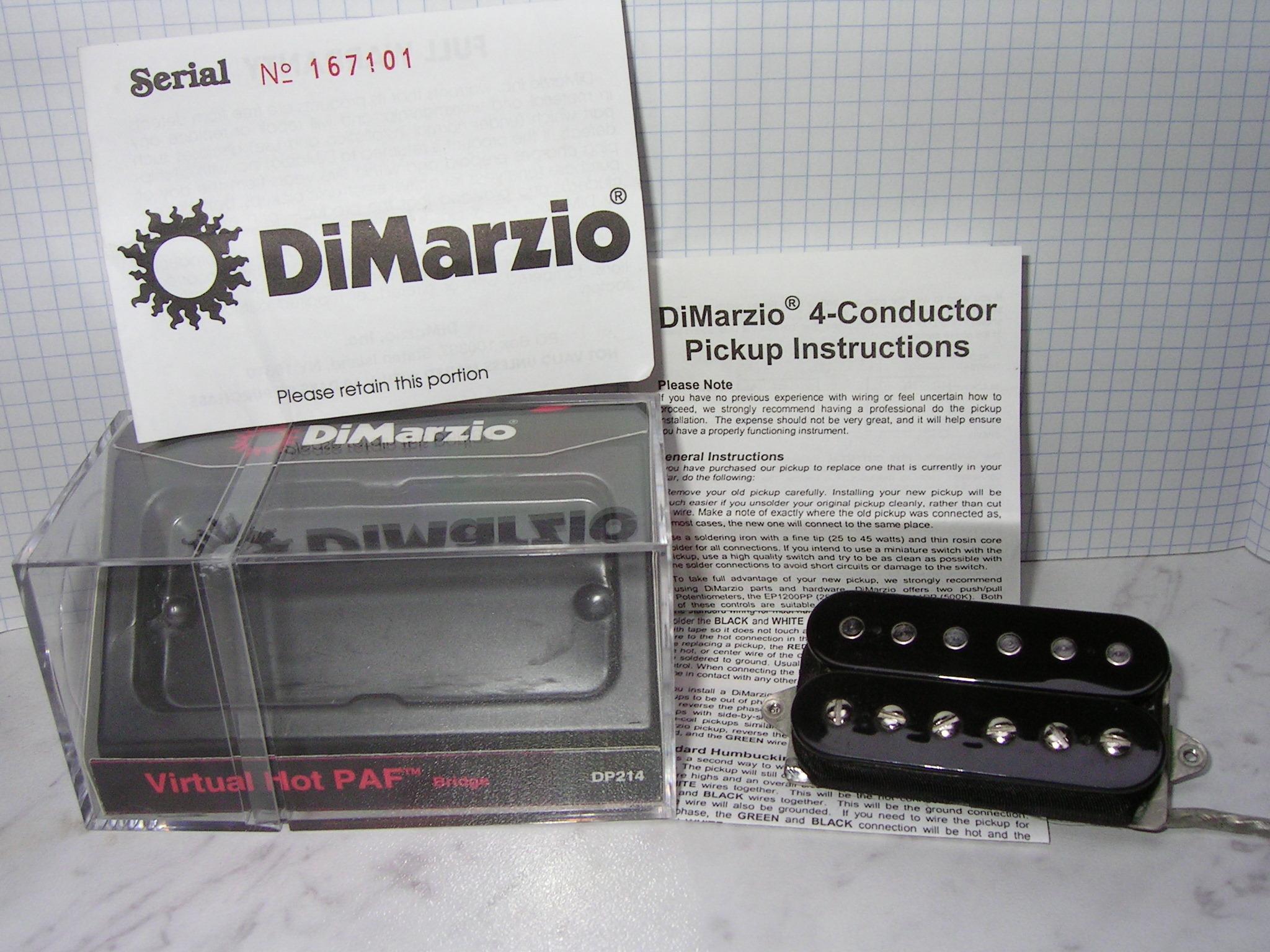 DiMarzio DP214 Virtual Hot PAF image (#515288) - Audiofanzine