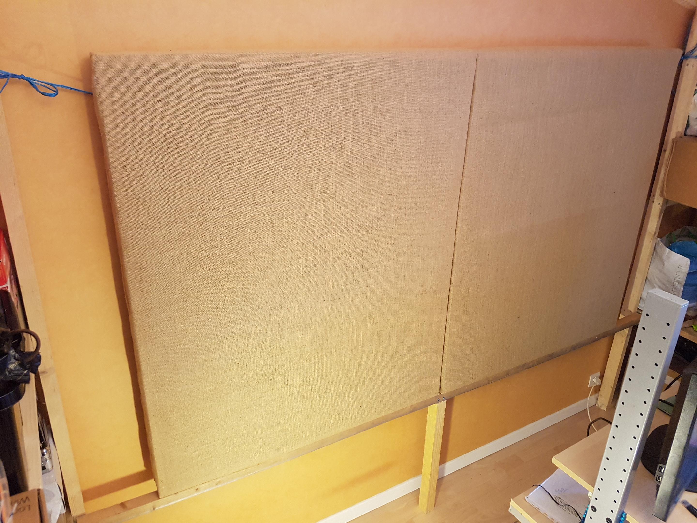 panneaux acoustiques absordeur de fr quences vend diy panneaux acoustiques audiofanzine. Black Bedroom Furniture Sets. Home Design Ideas