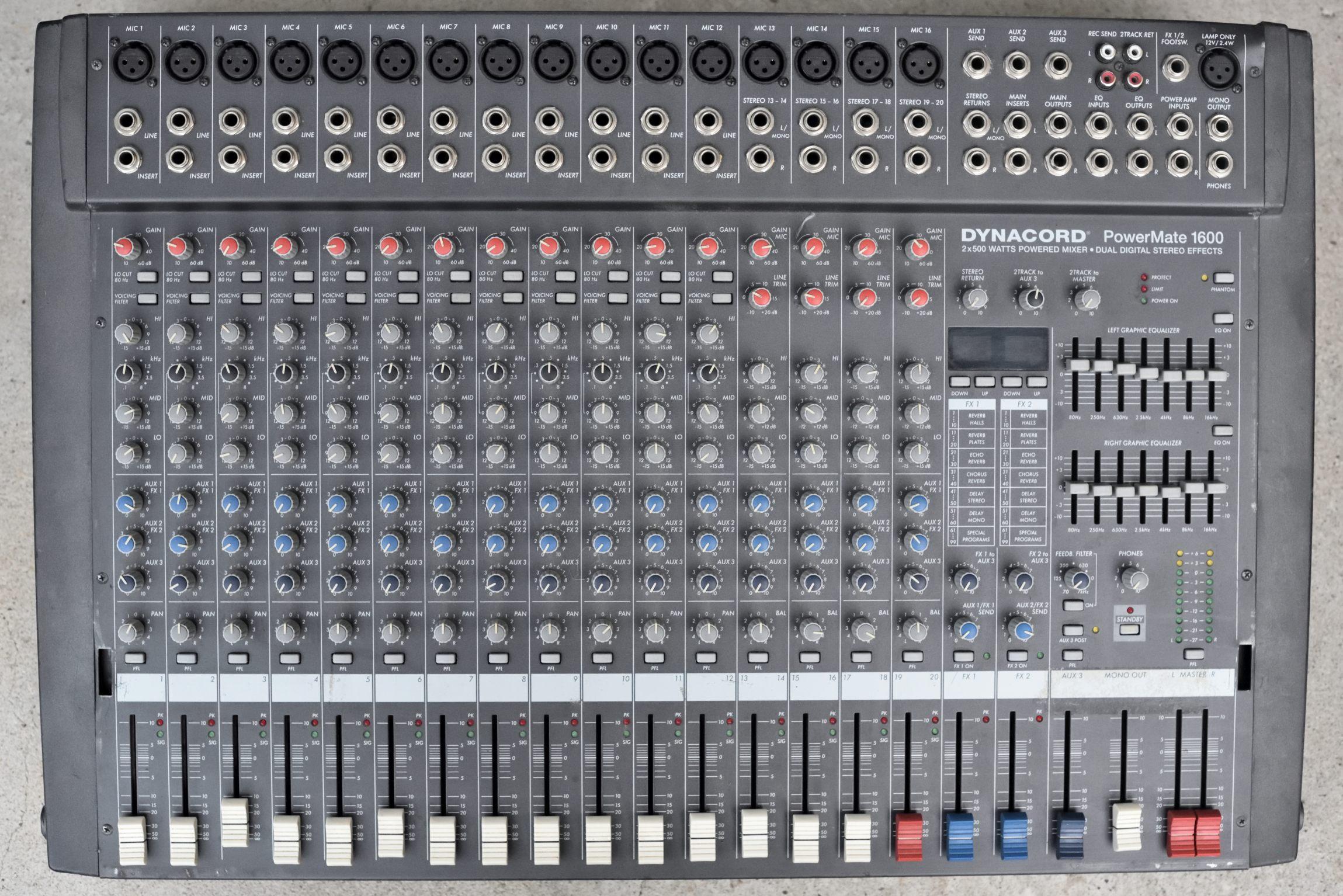 Powermate 1600 dynacord powermate 1600 audiofanzine - Table de mixage dynacord occasion ...