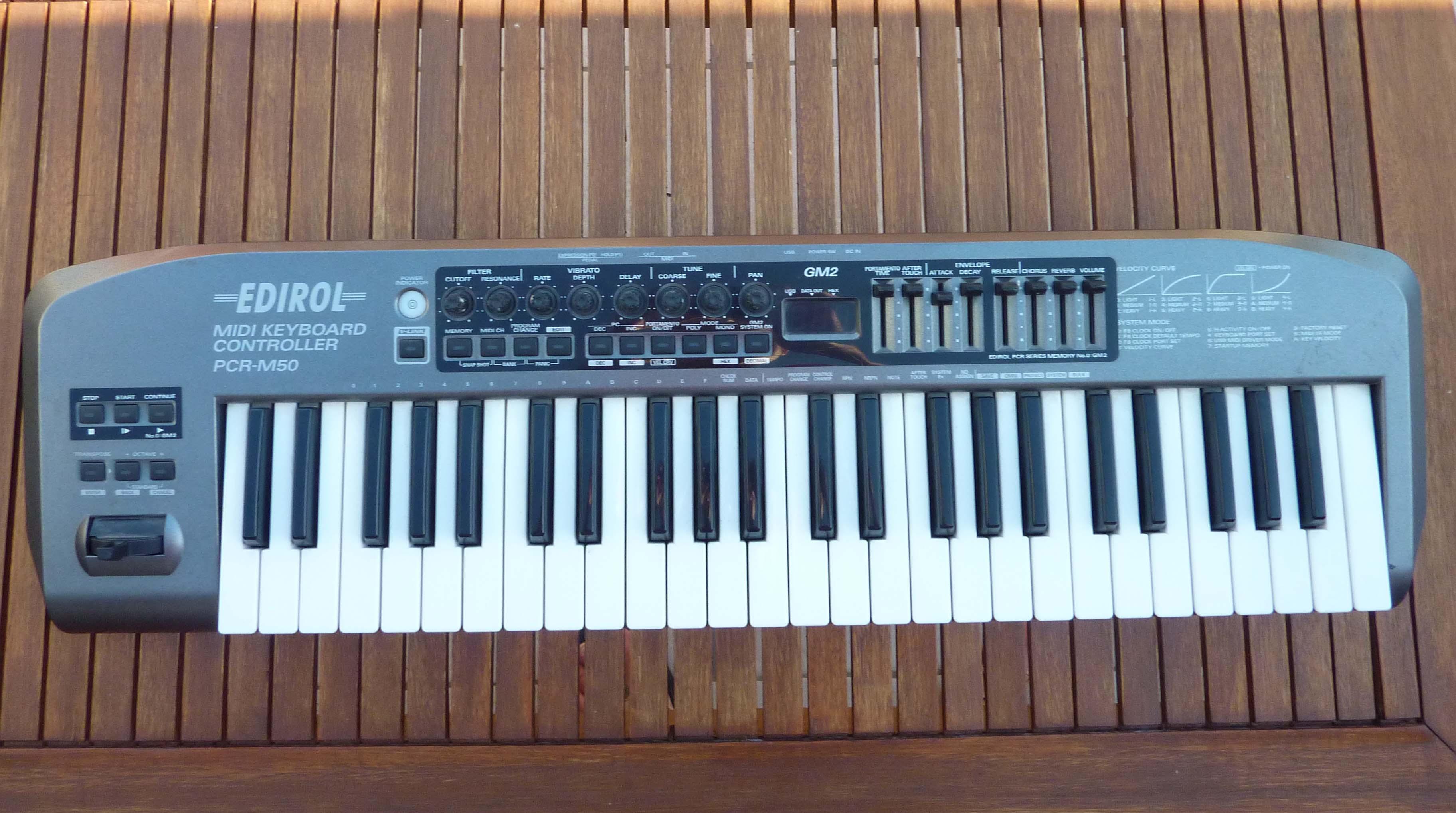 Midi клавиатура edirol pcr-30