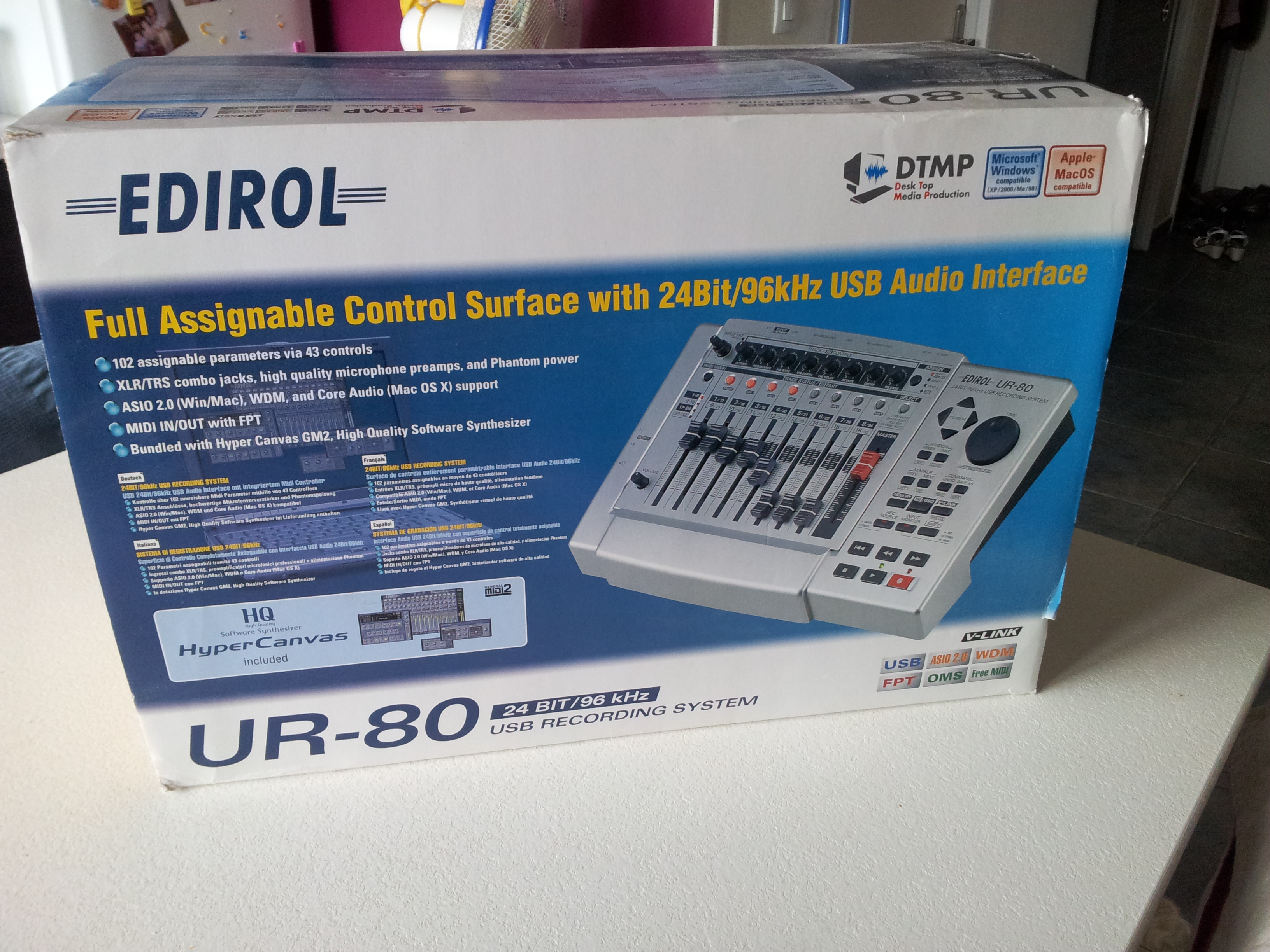 NEW DRIVERS: EDIROL UR-80