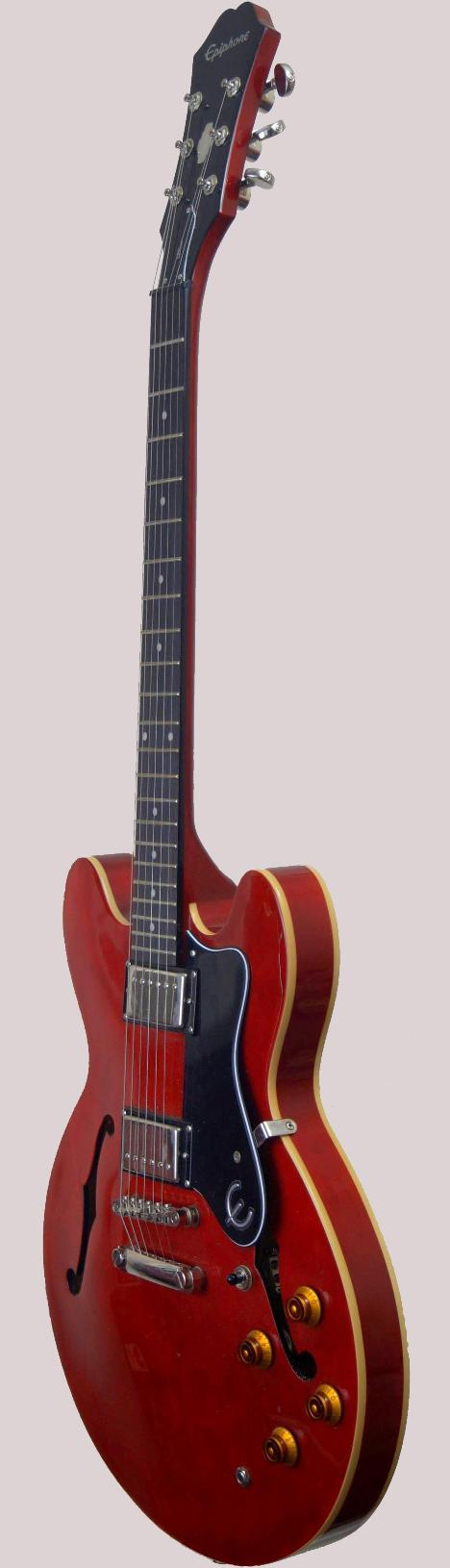 epi cherry archtop electric guitar at Ukulele Corner
