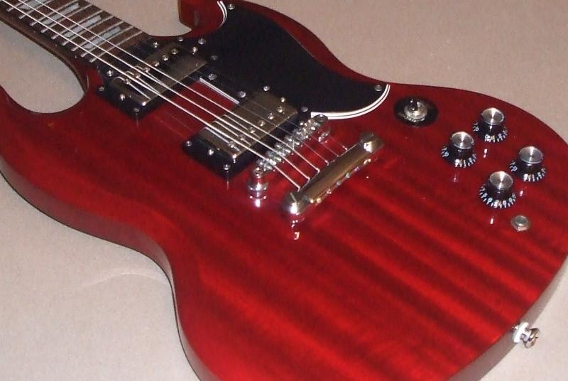 Cherry Red Guitar Paint