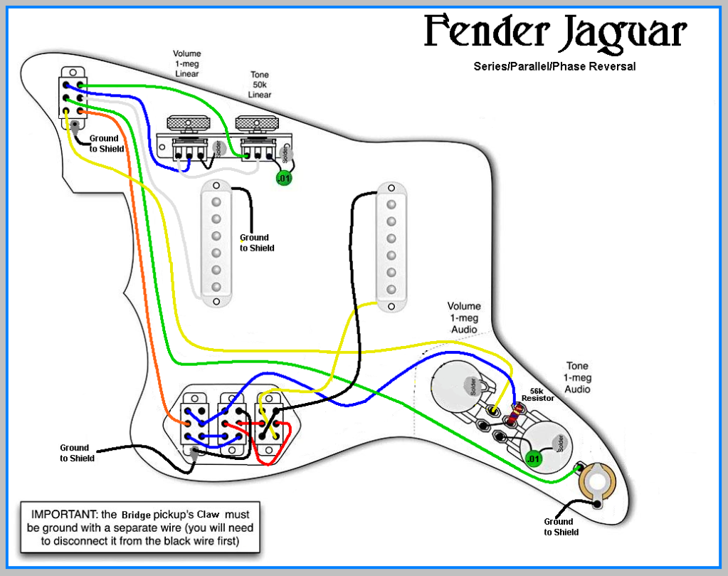 Fender Jaguar Wiring Harness Wiring Diagram Schematics Fender Humbucker  Wiring-Diagram 1963 Fender Jaguar Wiring Diagram
