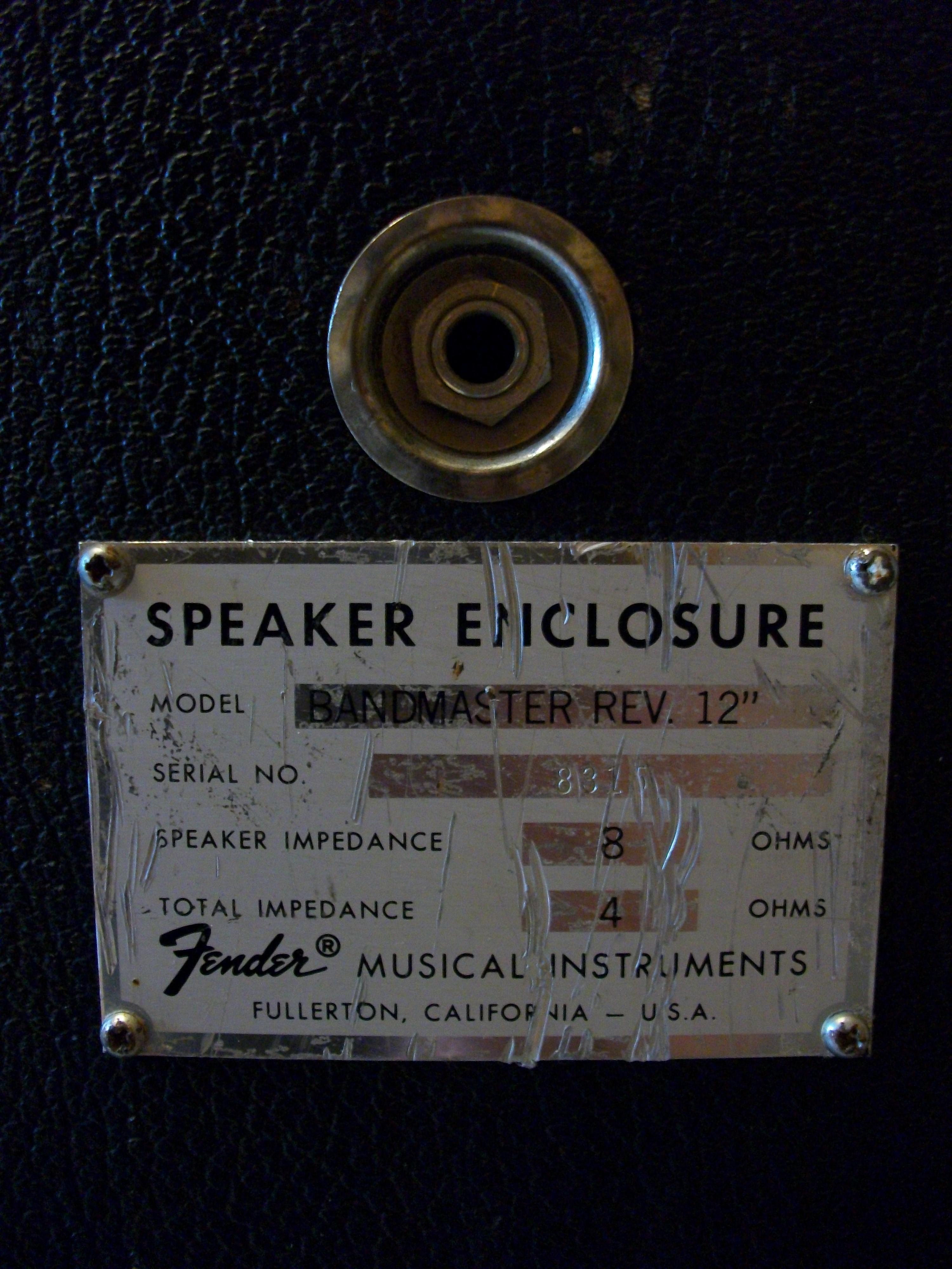 Fender Bandmaster Speaker Cabinet Fender Bandmaster Rev 12 Image 351130 Audiofanzine