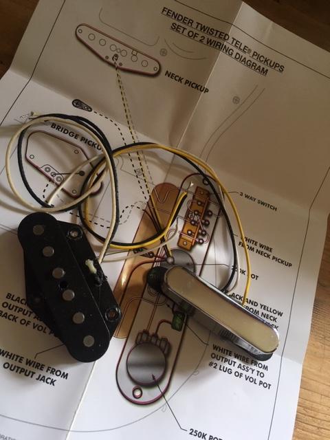 Cs Twisted Tele Pickup Set Fender
