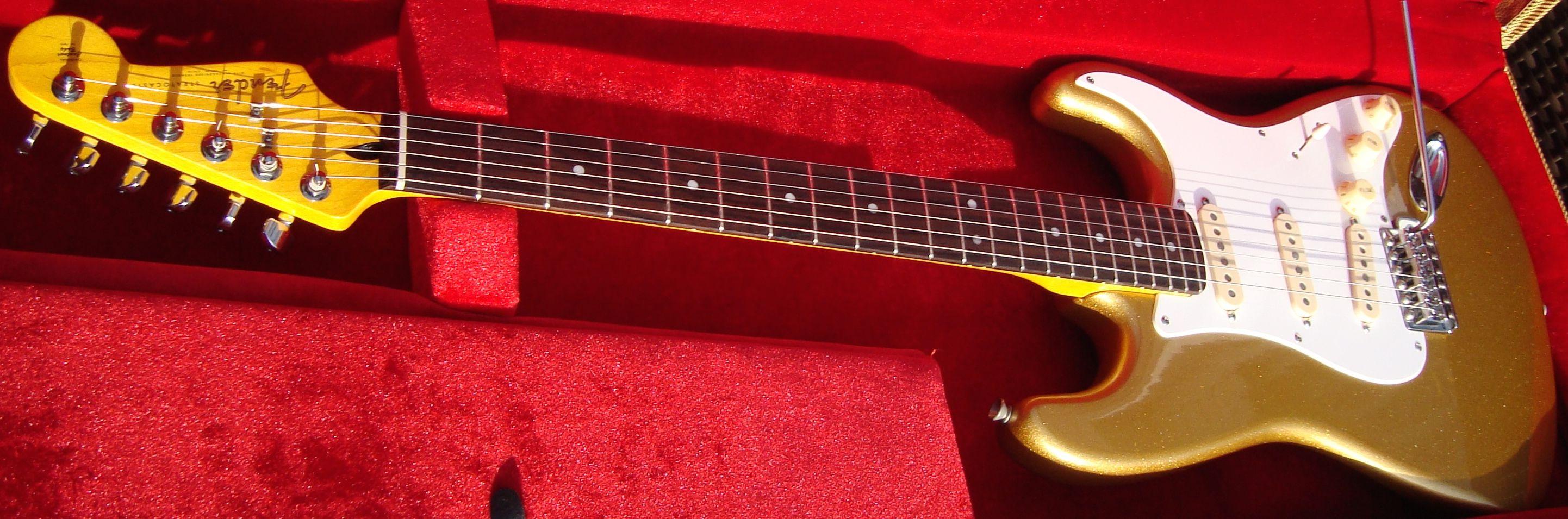 Fender stratocaster usa gold neuve 2016 micros for American classic usa