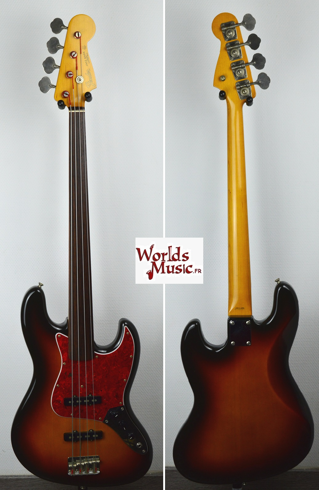 fender jazz bass 62 39 fl 3ts fretless 1993 japon ile de. Black Bedroom Furniture Sets. Home Design Ideas