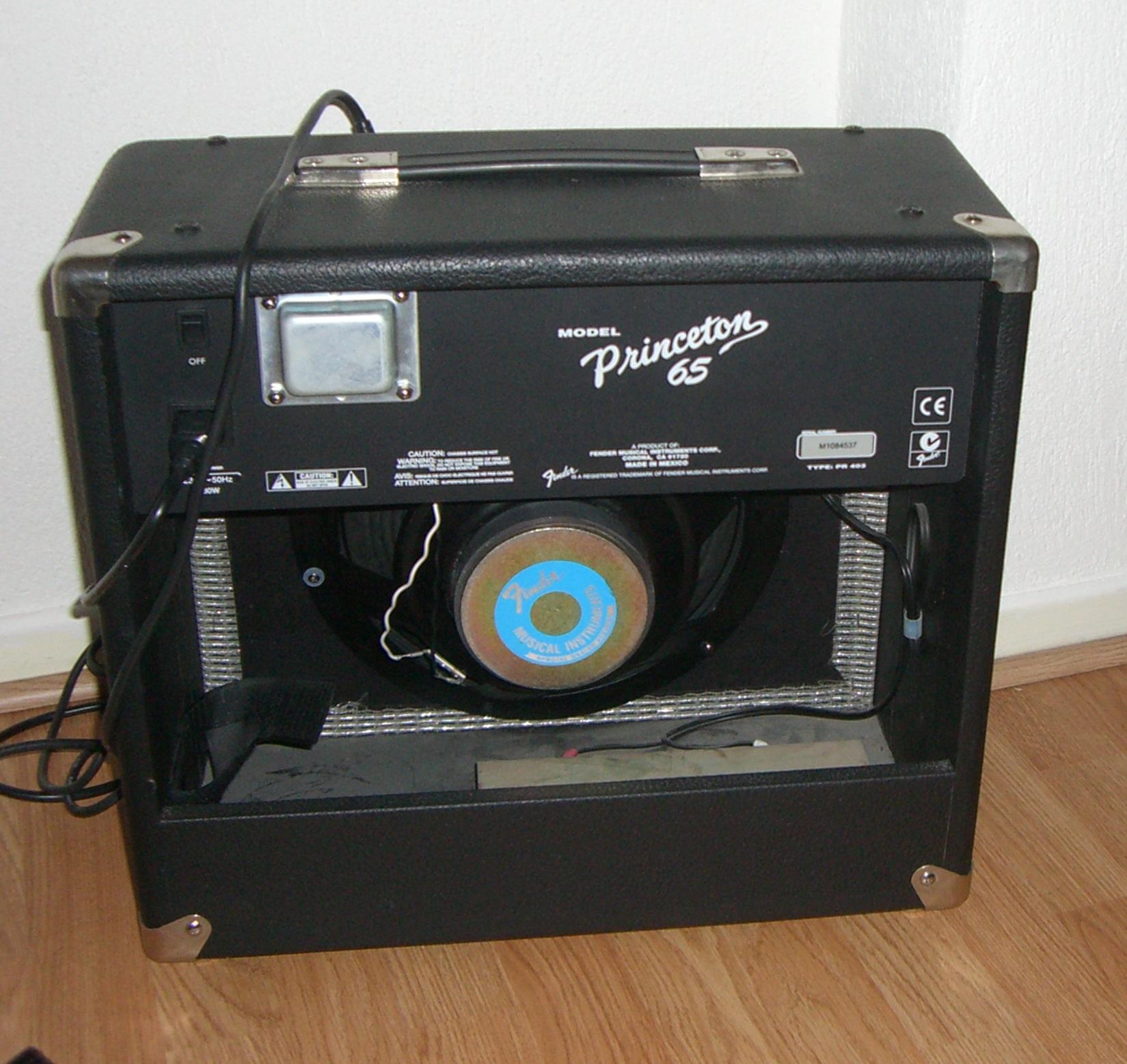fender princeton 65 image 302980 audiofanzine. Black Bedroom Furniture Sets. Home Design Ideas