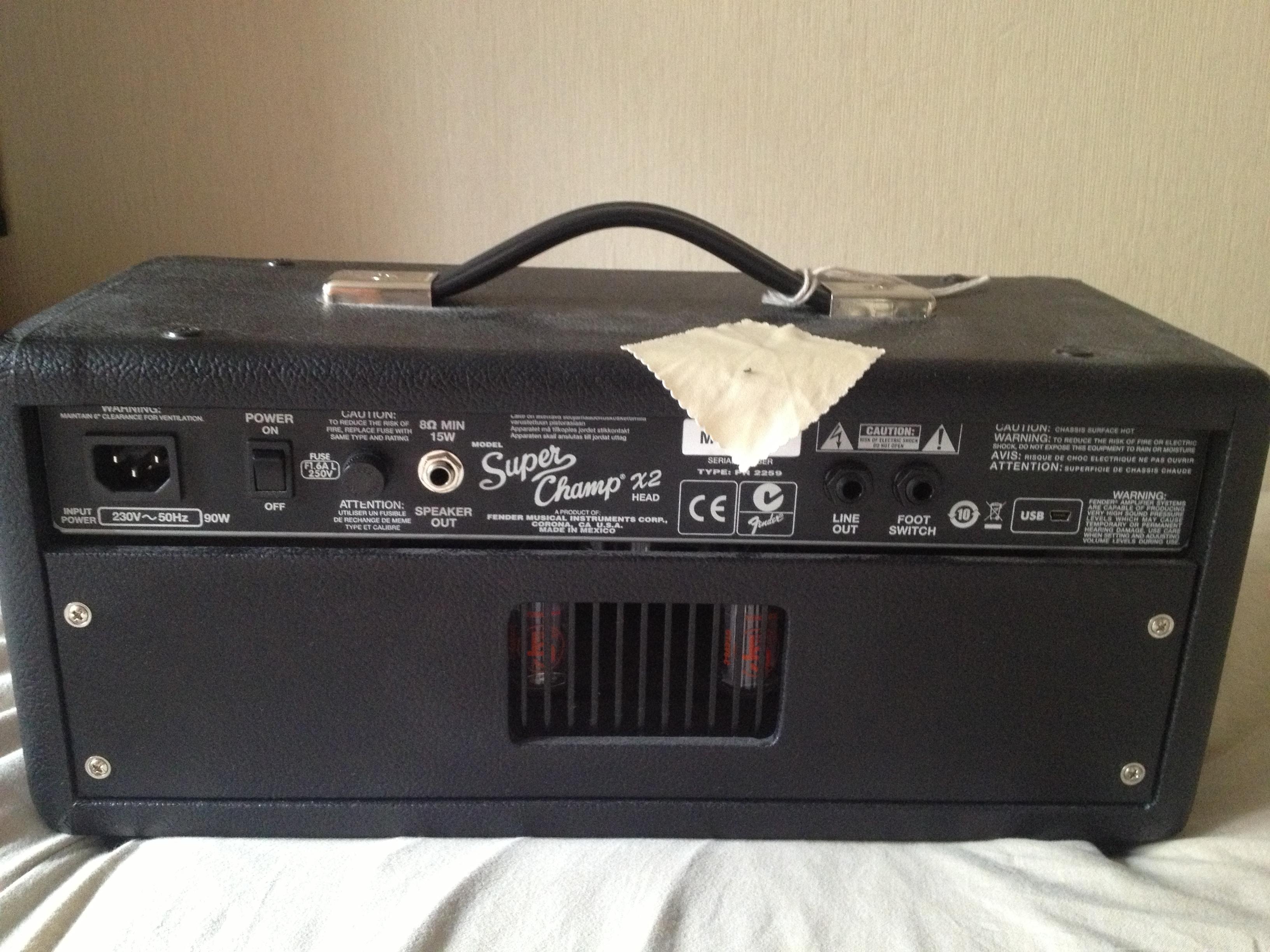 fender super champ x2 head image 488494 audiofanzine. Black Bedroom Furniture Sets. Home Design Ideas