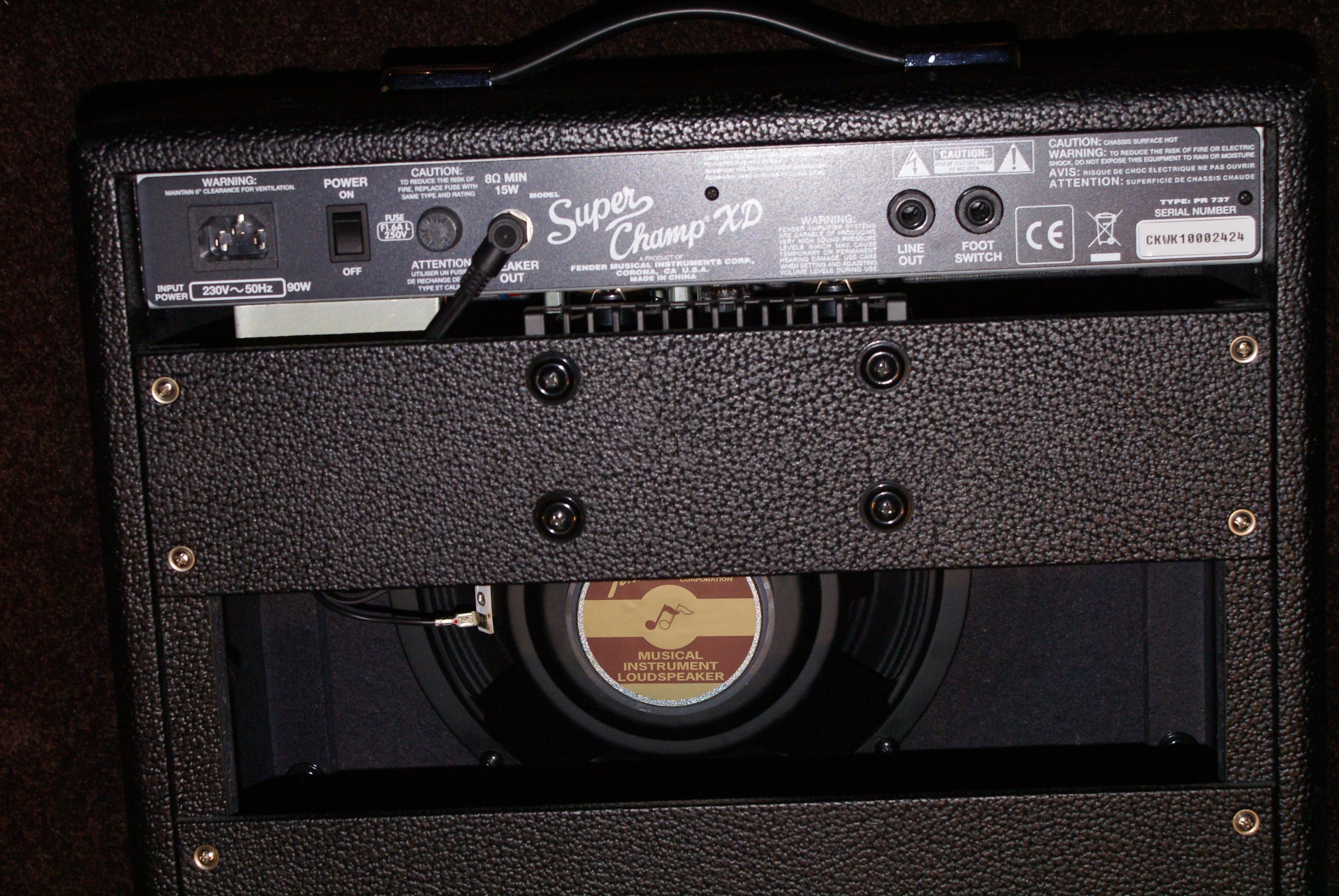 fender super champ xd image 653772 audiofanzine. Black Bedroom Furniture Sets. Home Design Ideas
