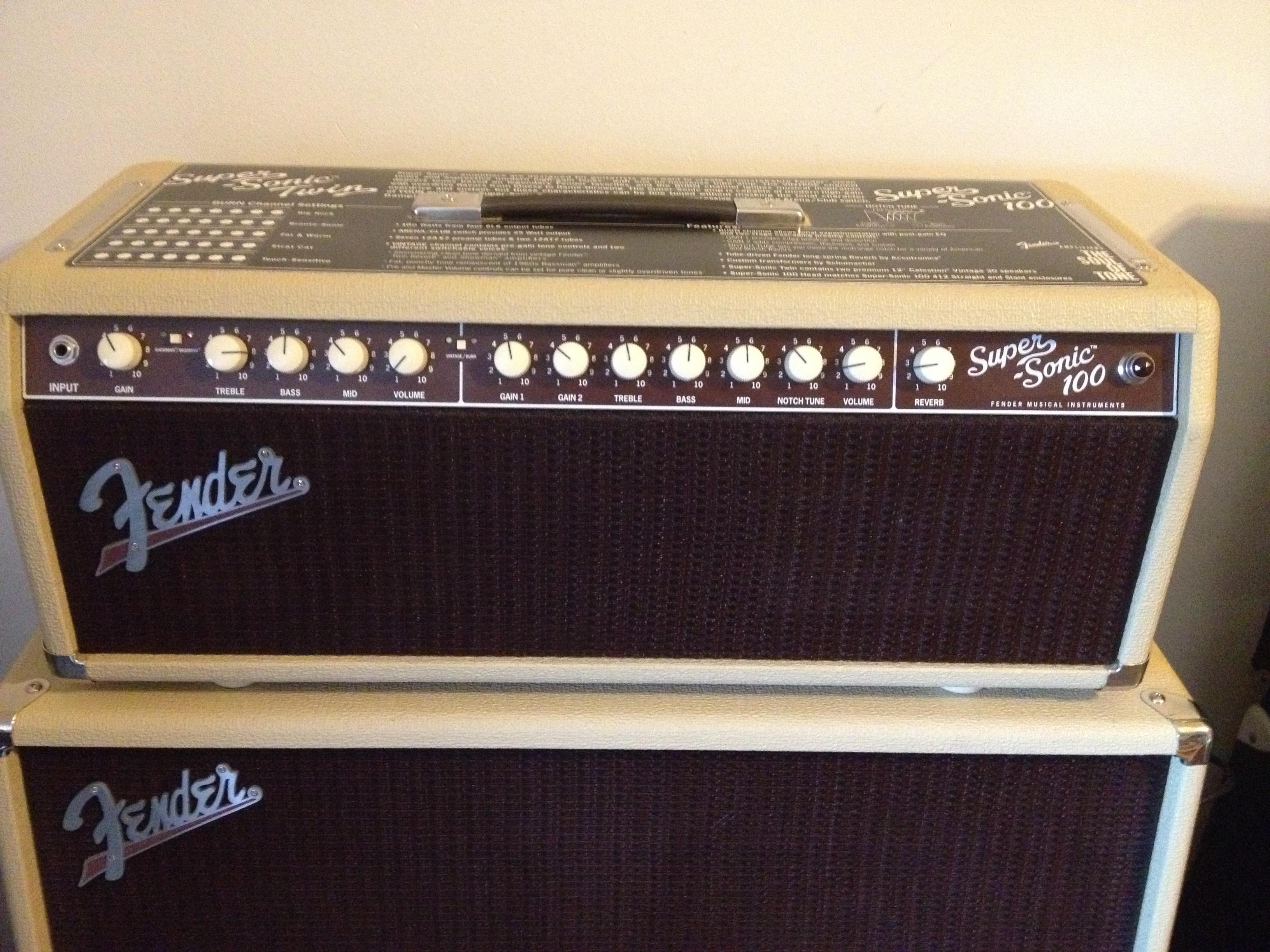 Fender Supersonic Head : fender super sonic 100 head image 558286 audiofanzine ~ Vivirlamusica.com Haus und Dekorationen