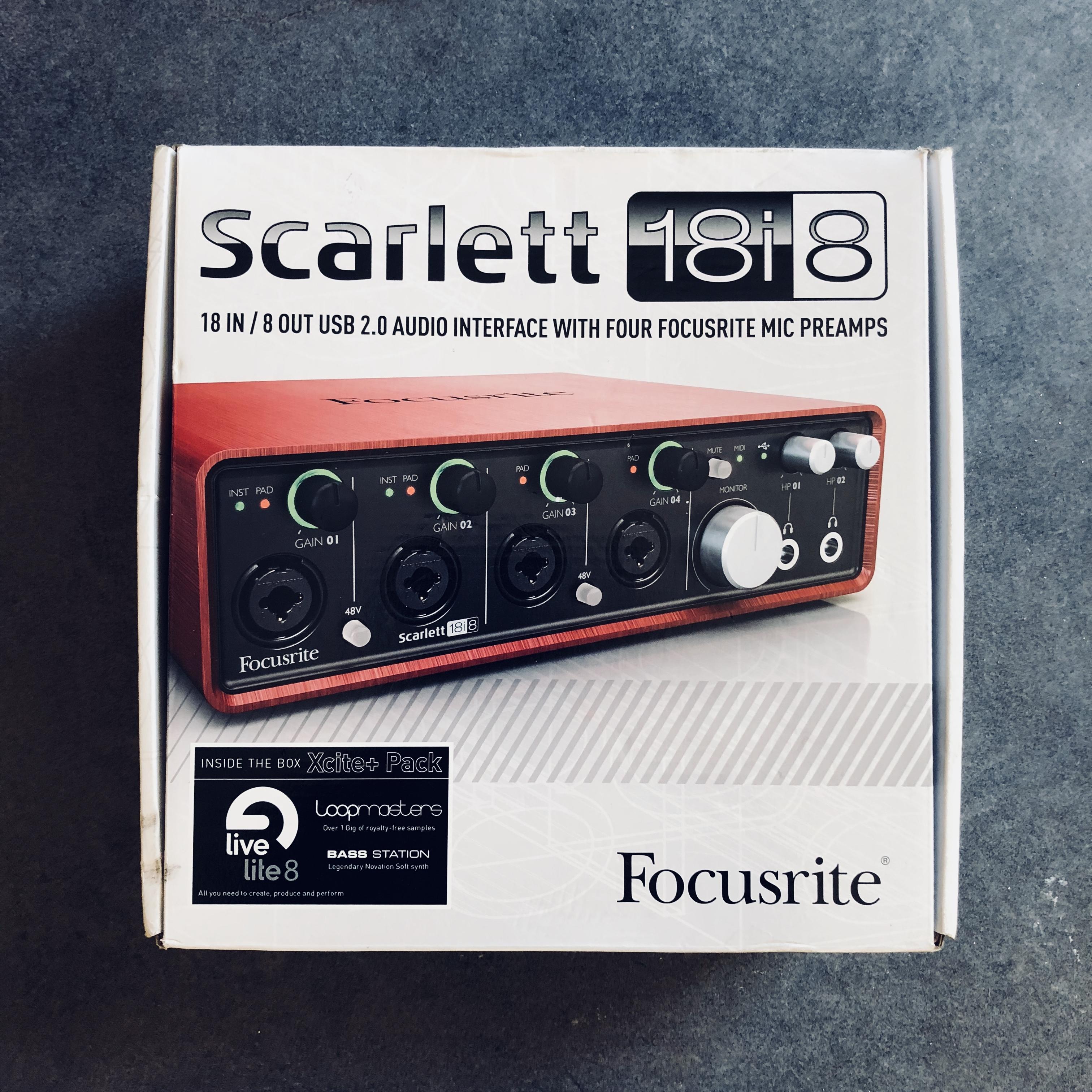 focusrite scarlett 6i6 user manual