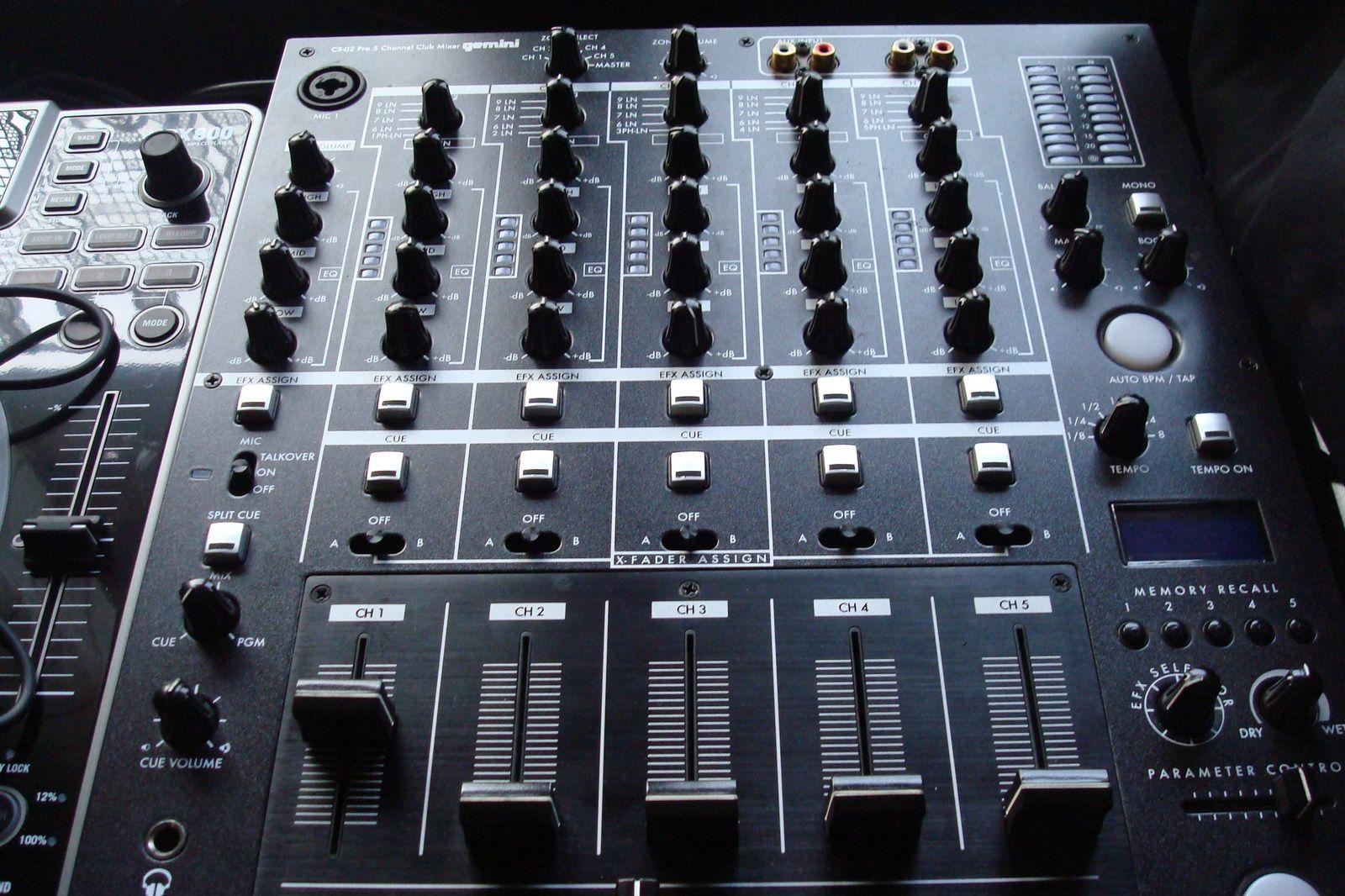 table de mixage gemini cs-02