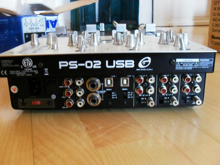 table de mixage gemini ps-02 usb