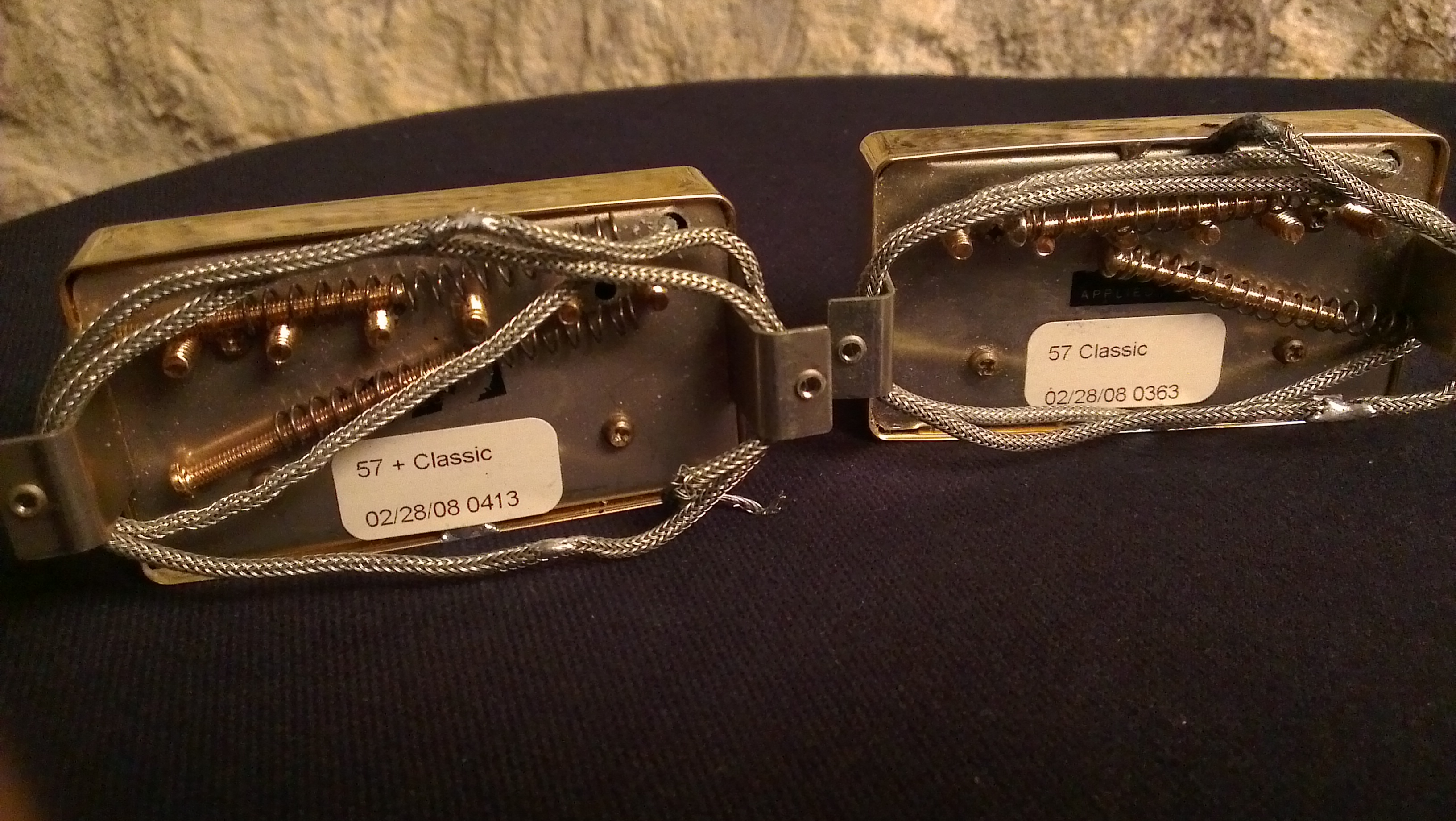 gibson hot vintage matched pickup set  classic 57