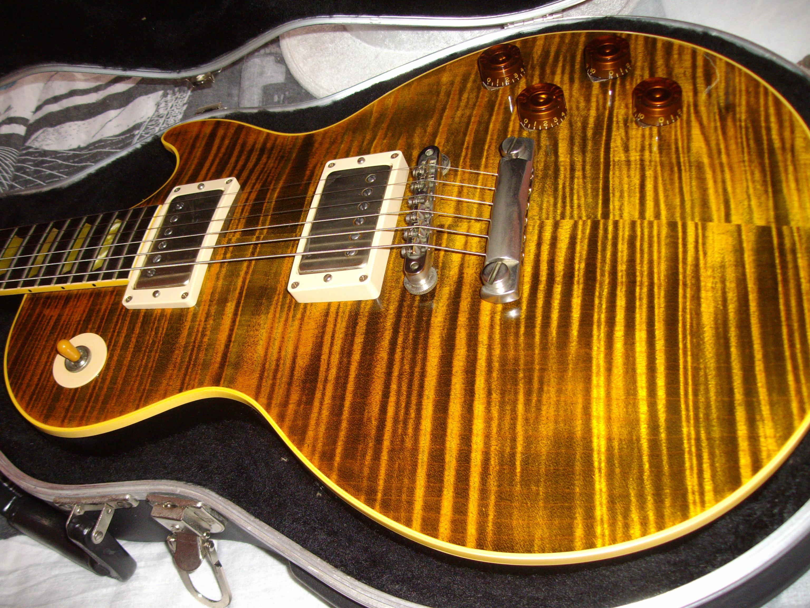 Gibson Joe Perry Boneyard Les Paul Green Tiger With