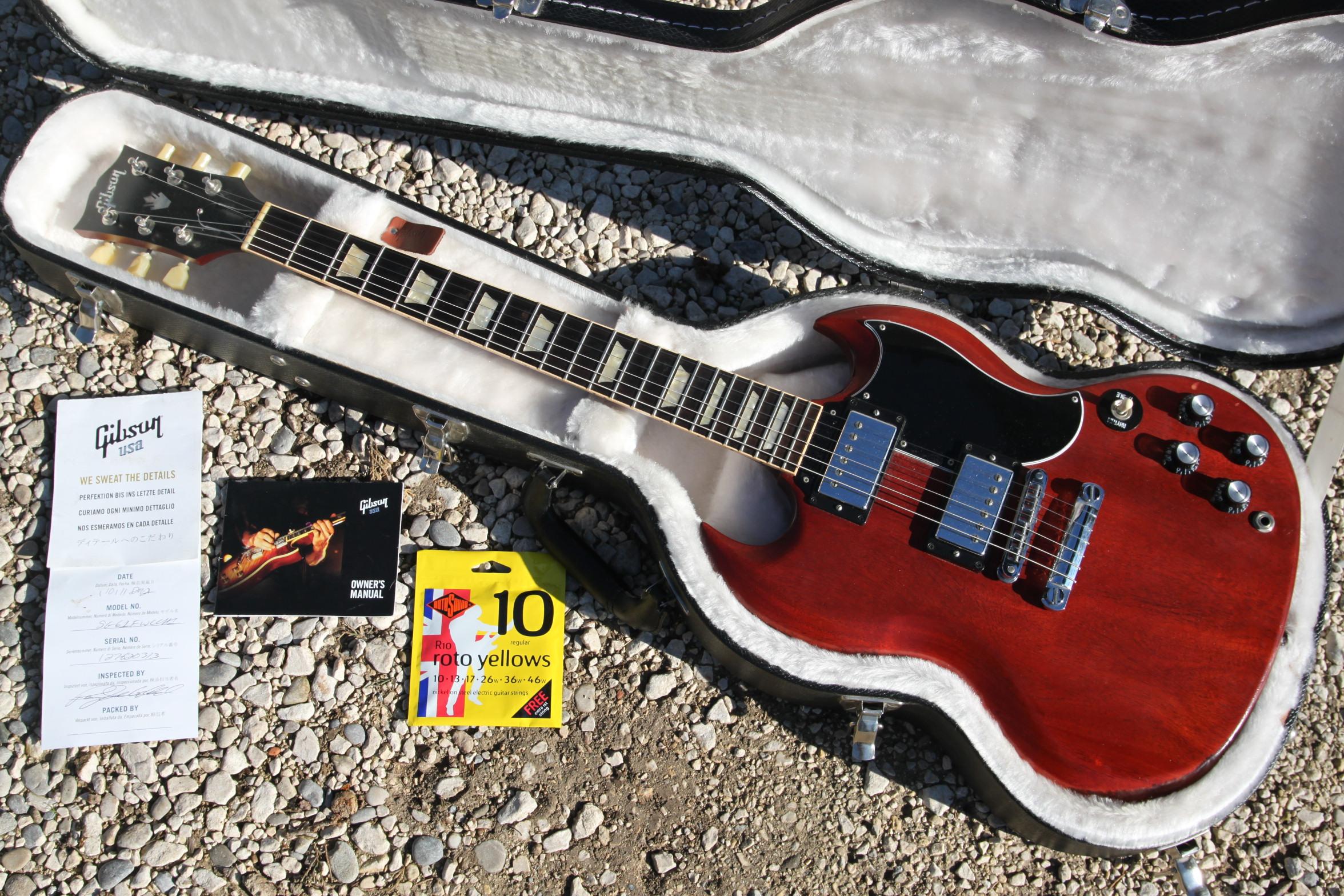 gibson sg 61 reissue satin worn cherry image 2129479 rh en audiofanzine com Gibson Flying V gibson sg standard owner's manual