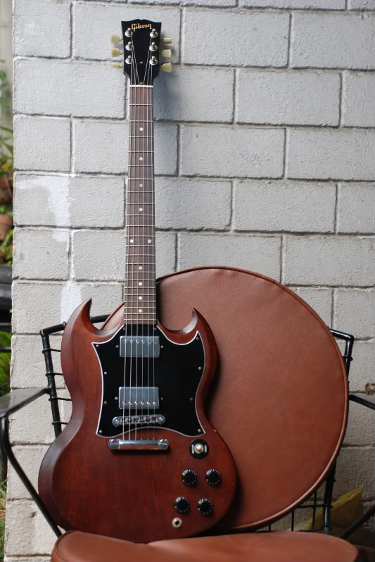 gibson sg special faded worn brown image 613647 audiofanzine. Black Bedroom Furniture Sets. Home Design Ideas