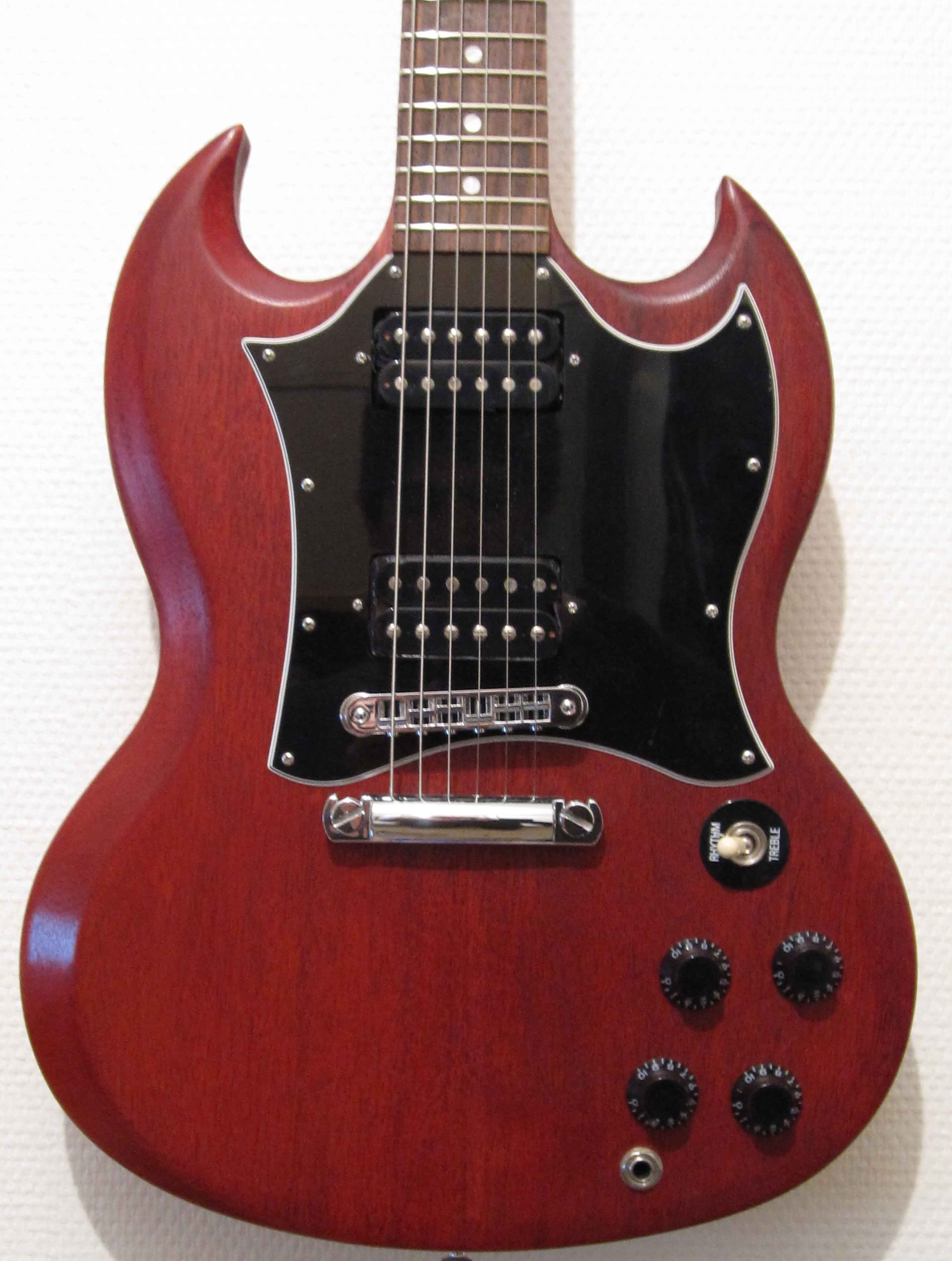 gibson sg special faded worn cherry image 45050 audiofanzine. Black Bedroom Furniture Sets. Home Design Ideas