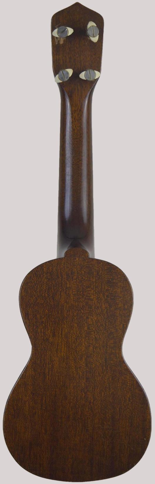 mahogany gibson soprano ukulele back