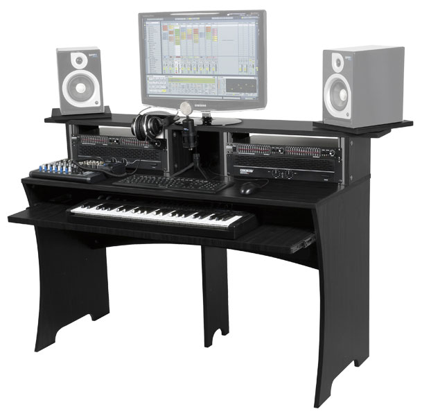 photo glorious dj workbench walnut glorious dj station de travail pour home studio 640019. Black Bedroom Furniture Sets. Home Design Ideas