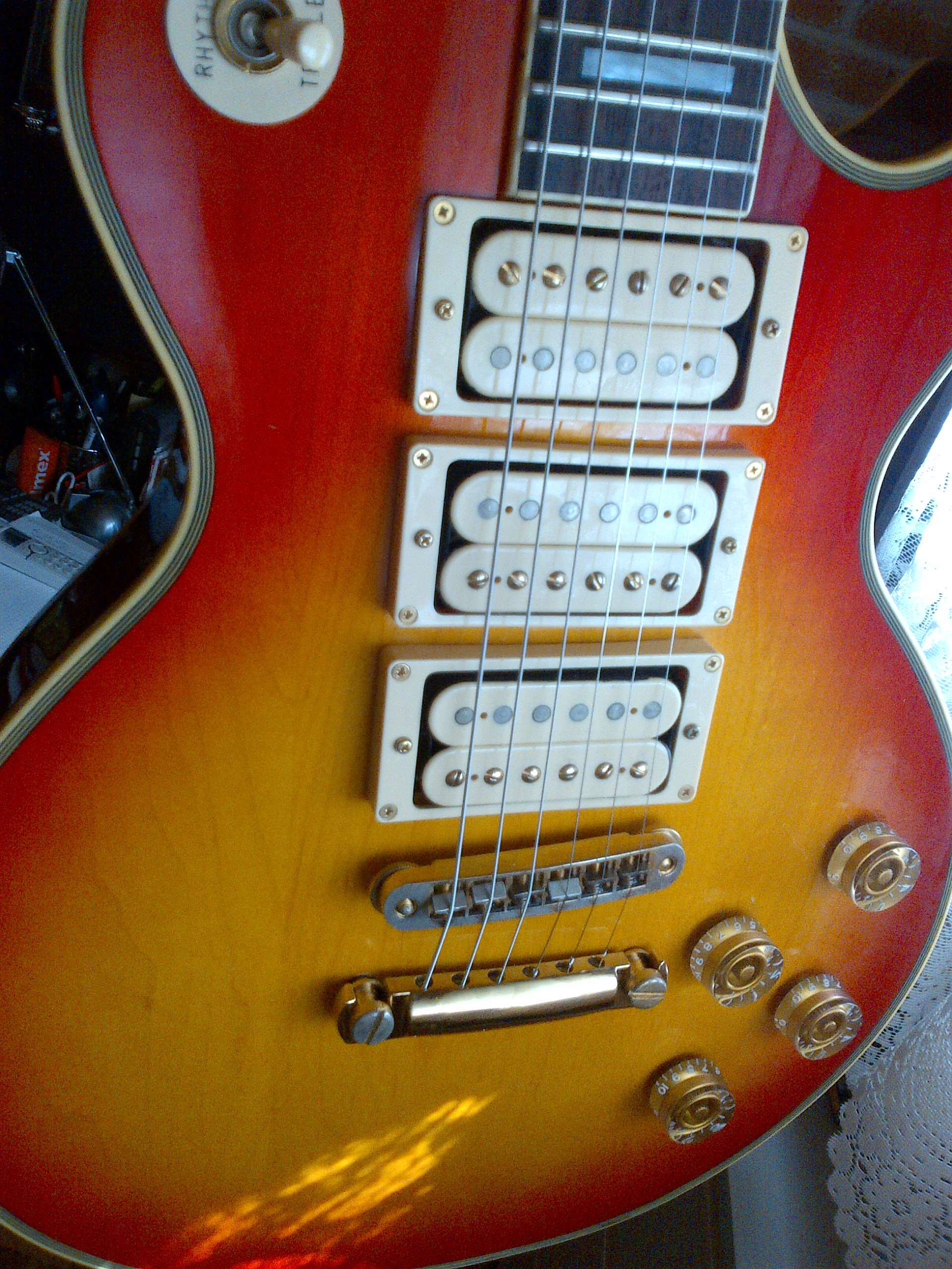 Nice Gibson Pickup Wiring Colors Tall 3 Pickup Guitar Regular How To Wire A Solar System Solar Cell Connection Diagram Old Solar Power Schematic Diagram SoftHow To Install An Electrical Panel Greco Les Paul Custom 3 Humbuckers Image (#871840)   Audiofanzine