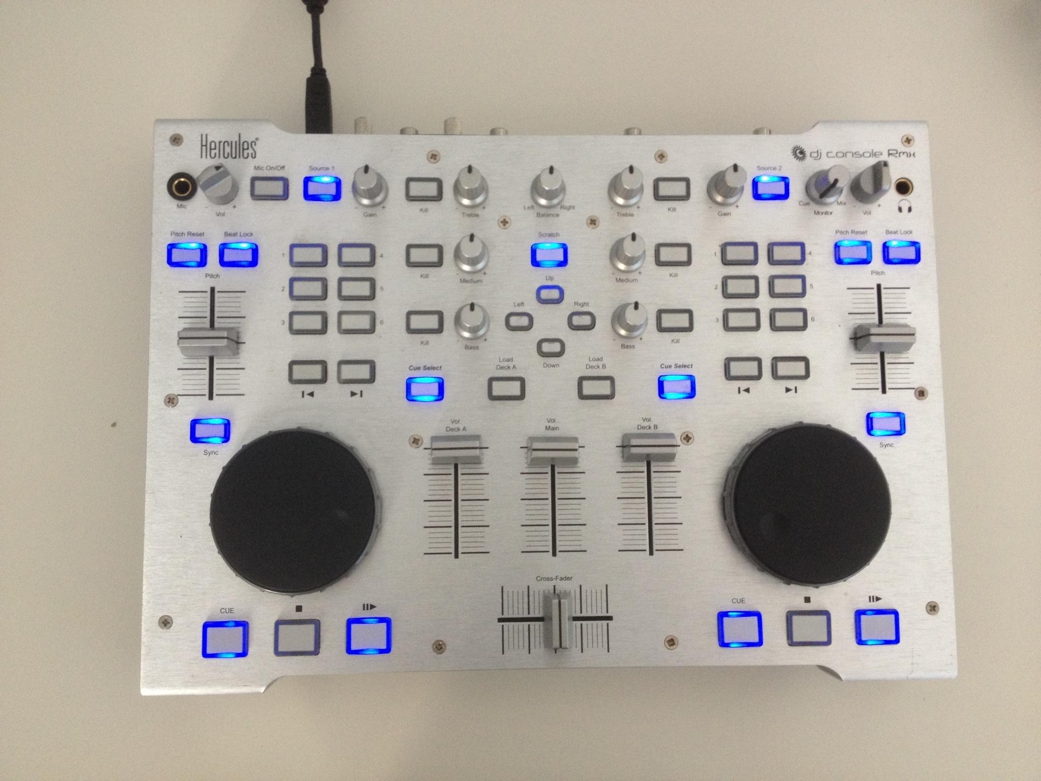 table de mixage hercules dj console rmx