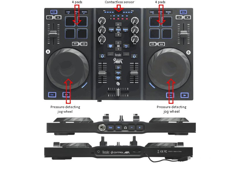 table de mixage hercules dj control air
