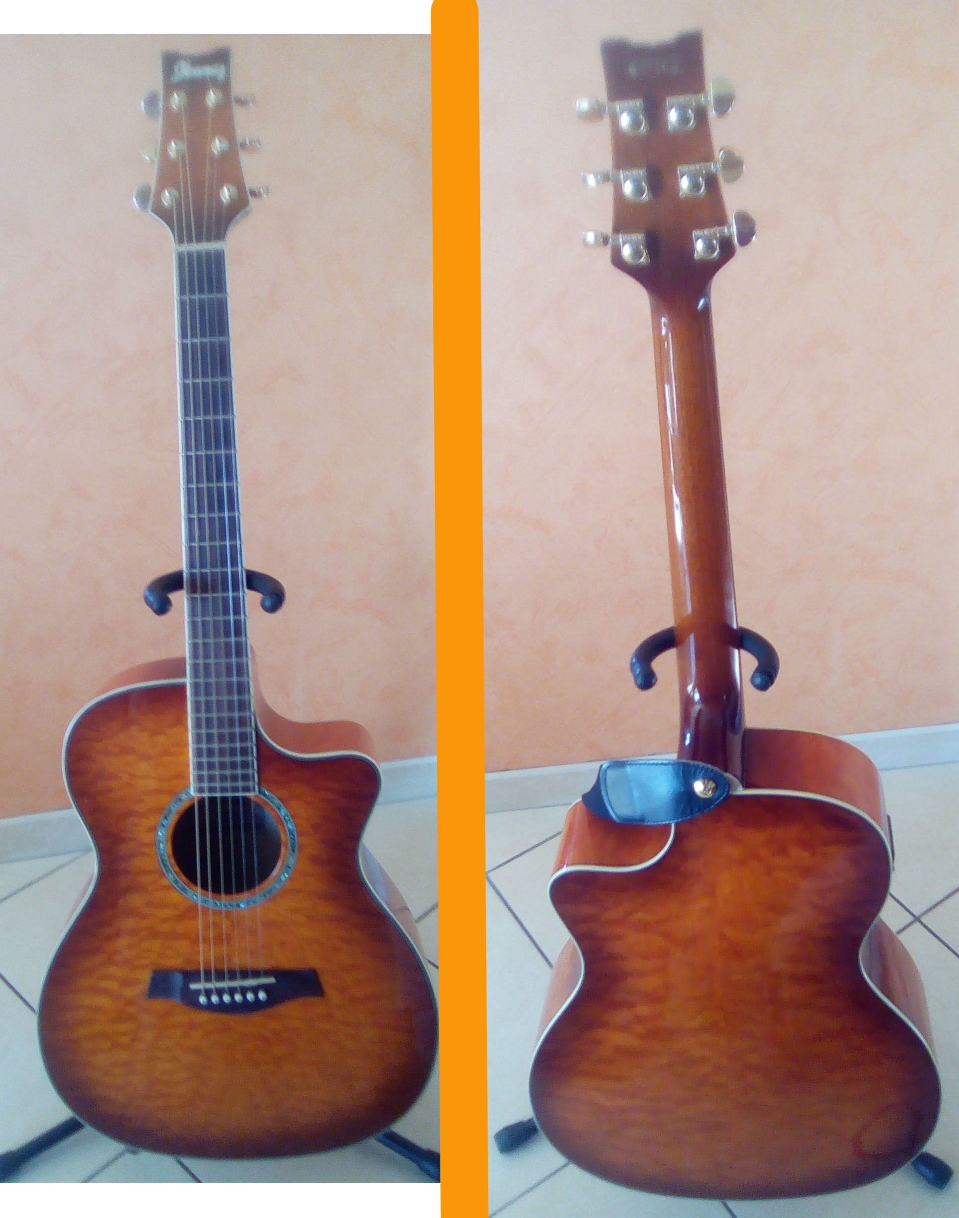 vends guitare lectro acoustique iba ez a300e vv violon. Black Bedroom Furniture Sets. Home Design Ideas