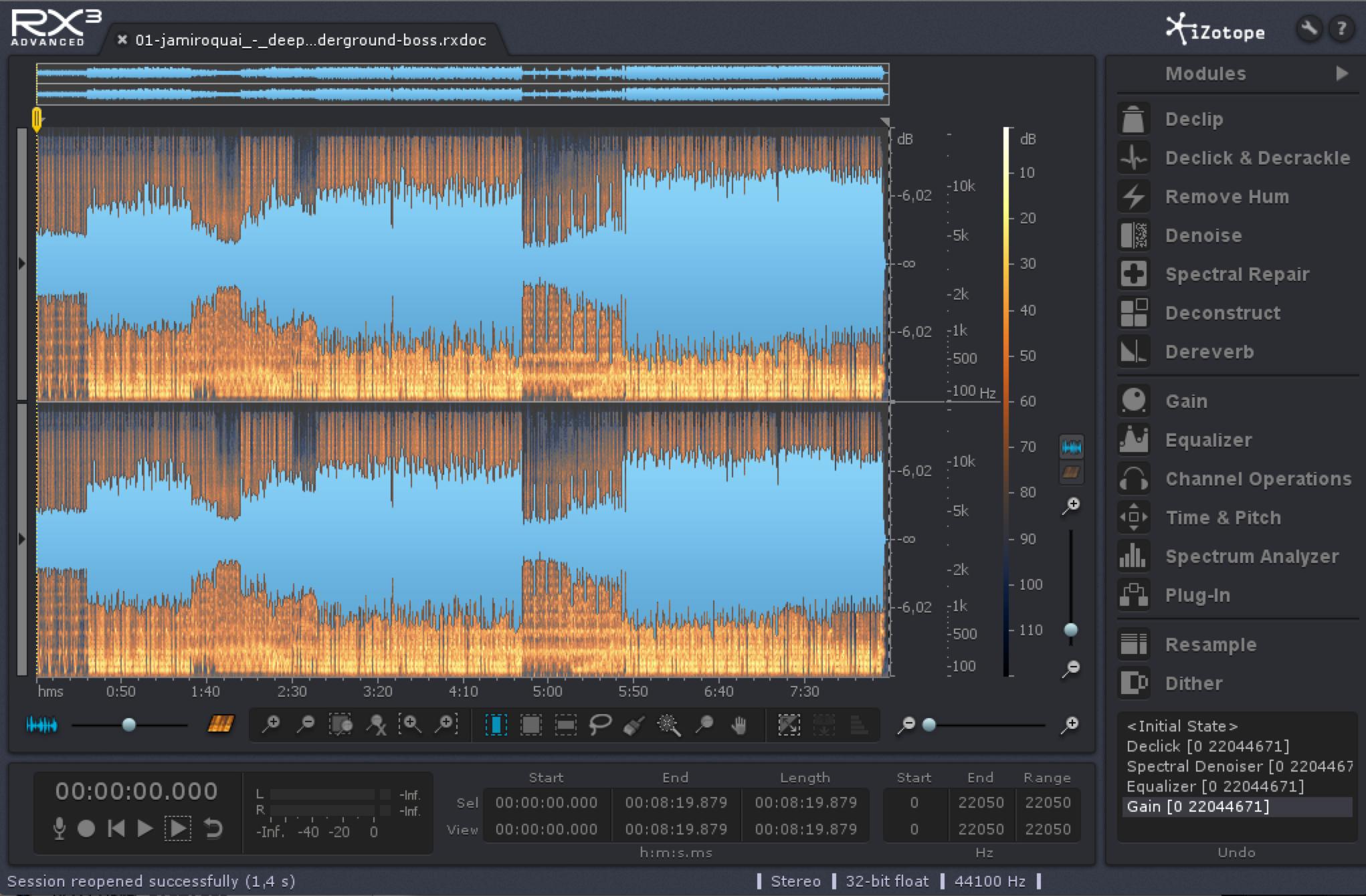 iZotope RX 3 Advanced - Audiofanzine