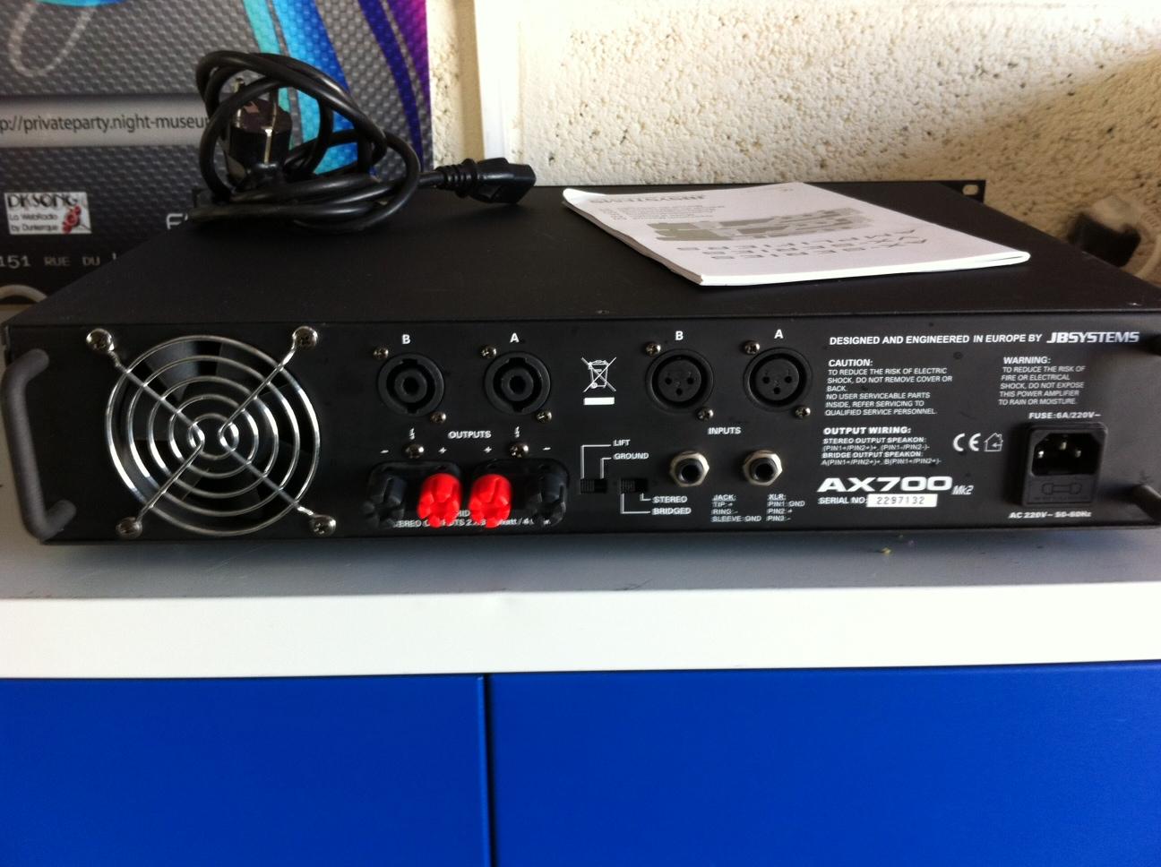 ampli sono jb systems vx 700