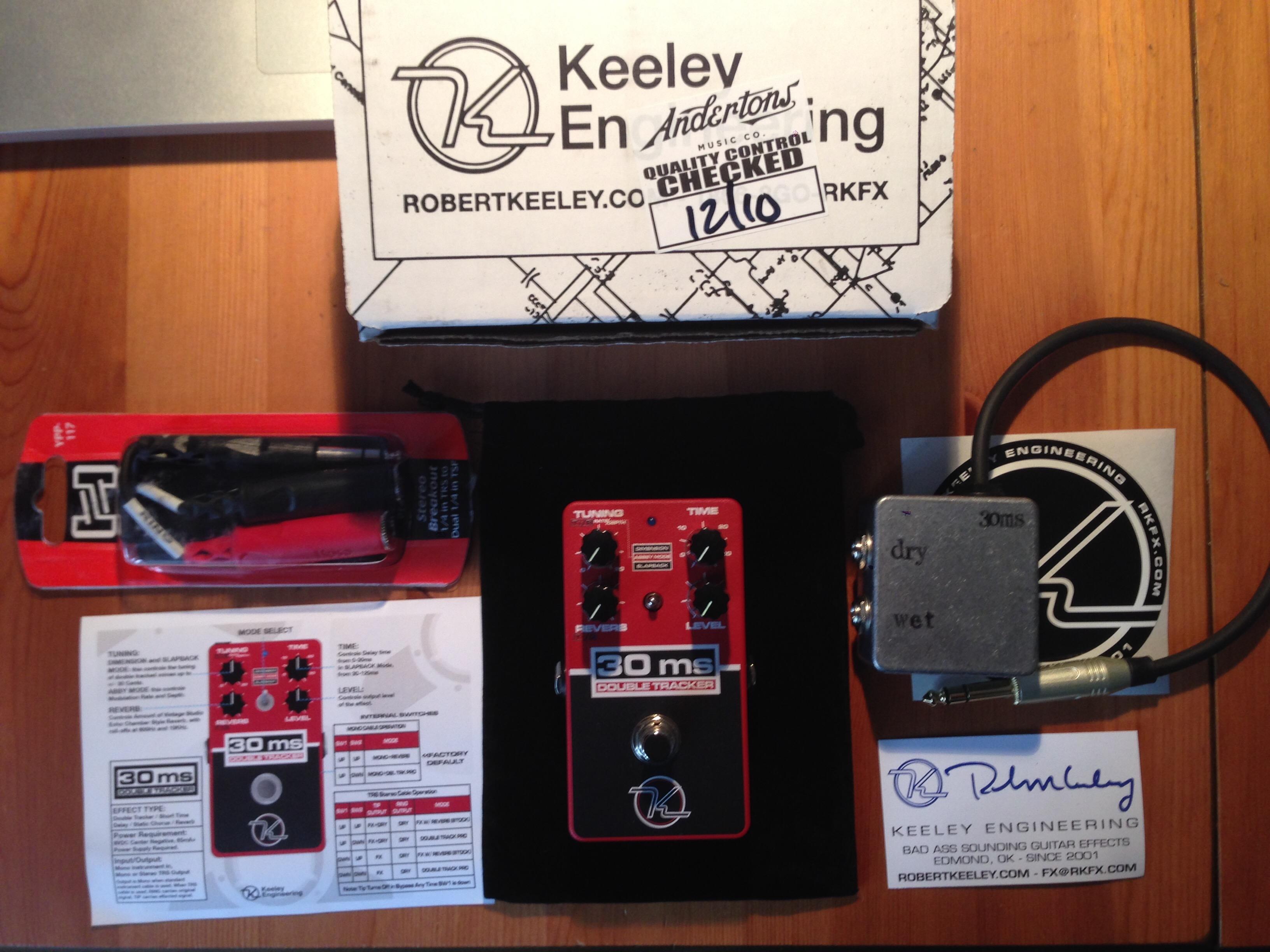 30ms automatic double tracker keeley electronics audiofanzine. Black Bedroom Furniture Sets. Home Design Ideas