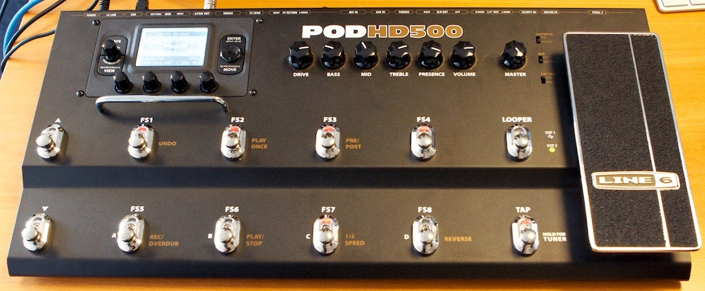 Line 6 POD HD 500 Review : Pod HD: Is It For You? - Audiofanzine