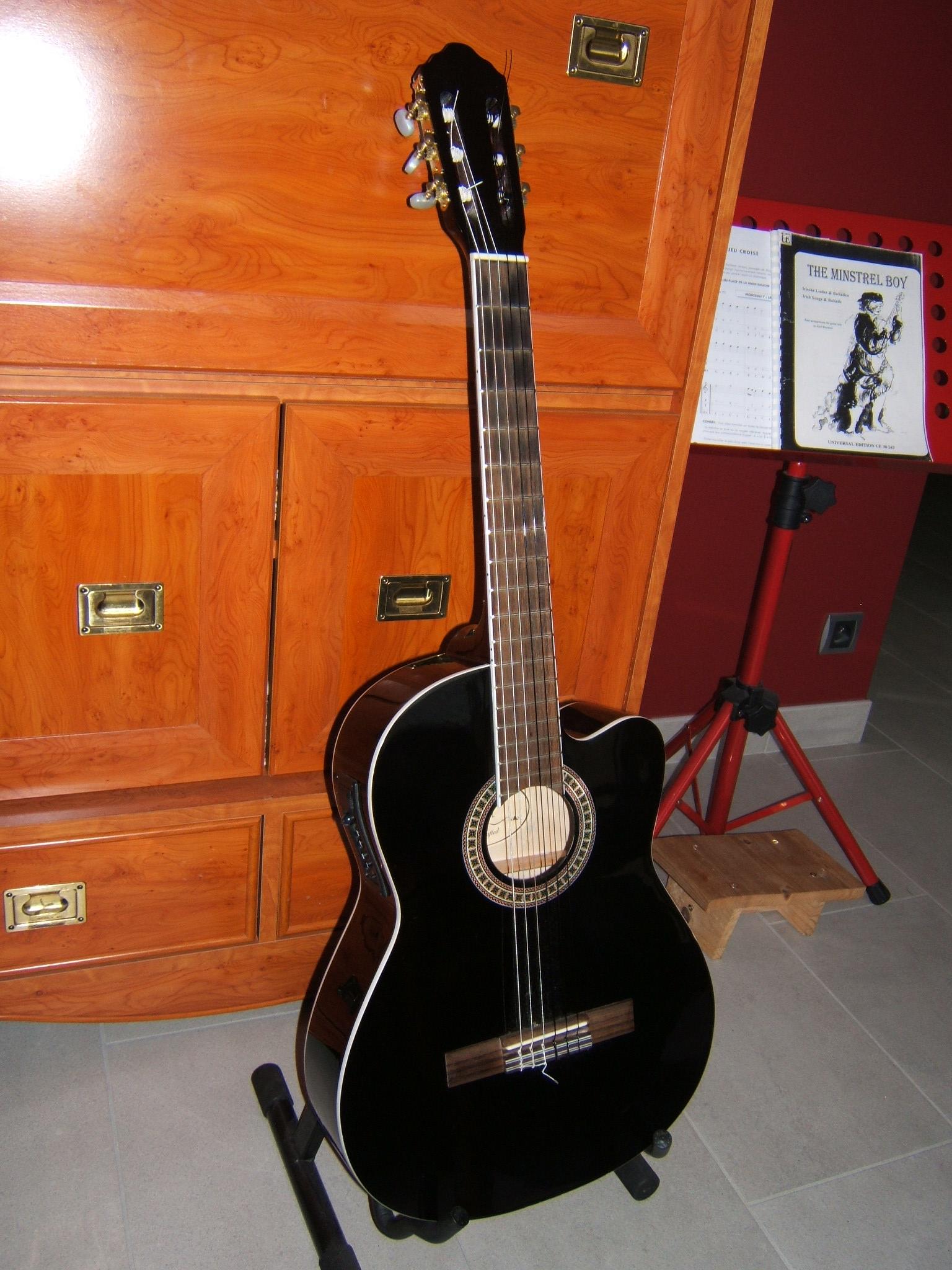 photo luthier guitare electro acoustique classique cordes. Black Bedroom Furniture Sets. Home Design Ideas