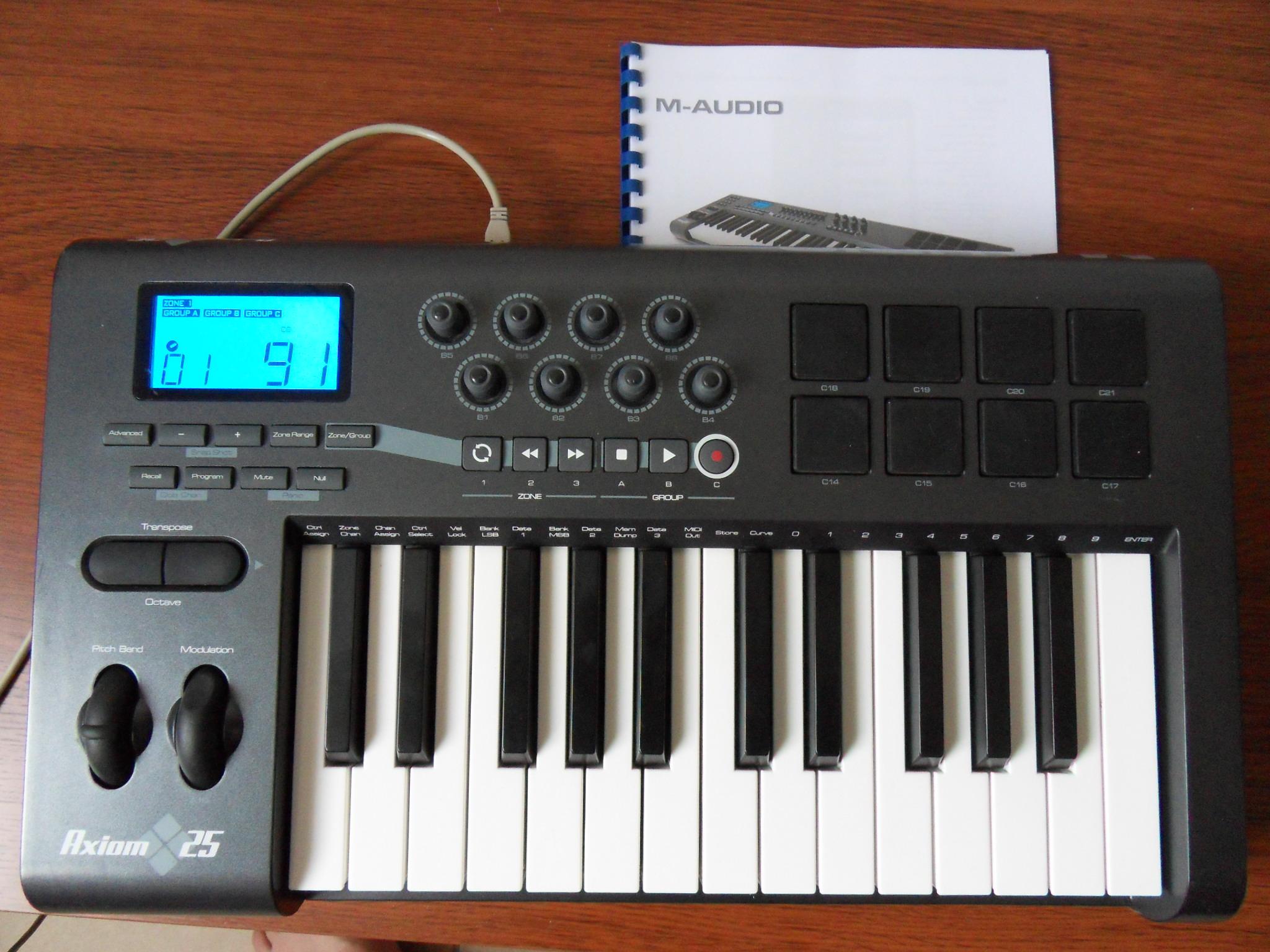 m audio axiom 25 image 372756 audiofanzine rh en audiofanzine com m audio axiom 25 manual pdf m-audio axiom 25 manual español