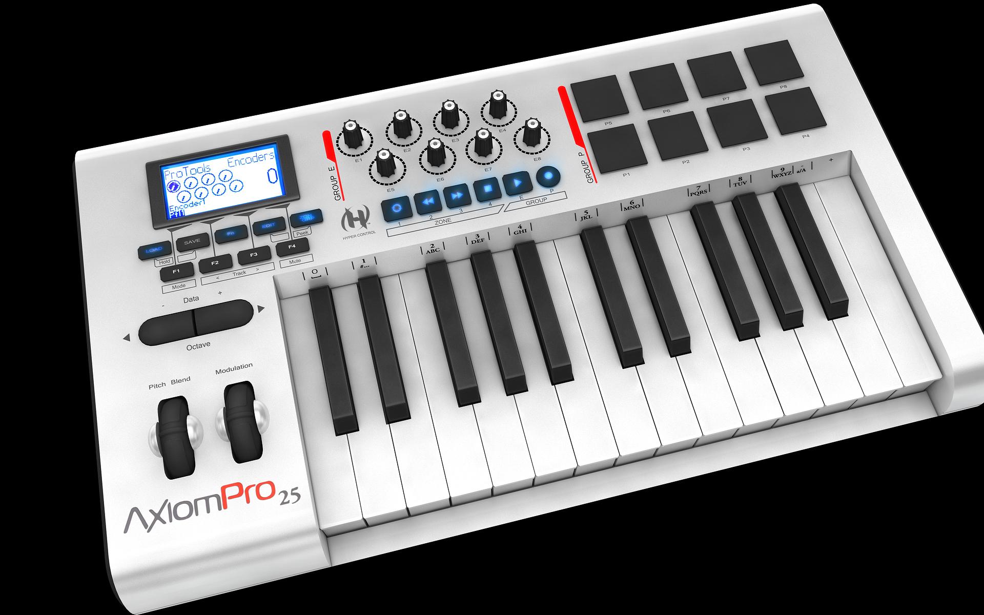 m audio axiom pro 25 image 366317 audiofanzine rh en audiofanzine com M-Audio Axiom 61 Software Axiom 25 MIDI-Controller